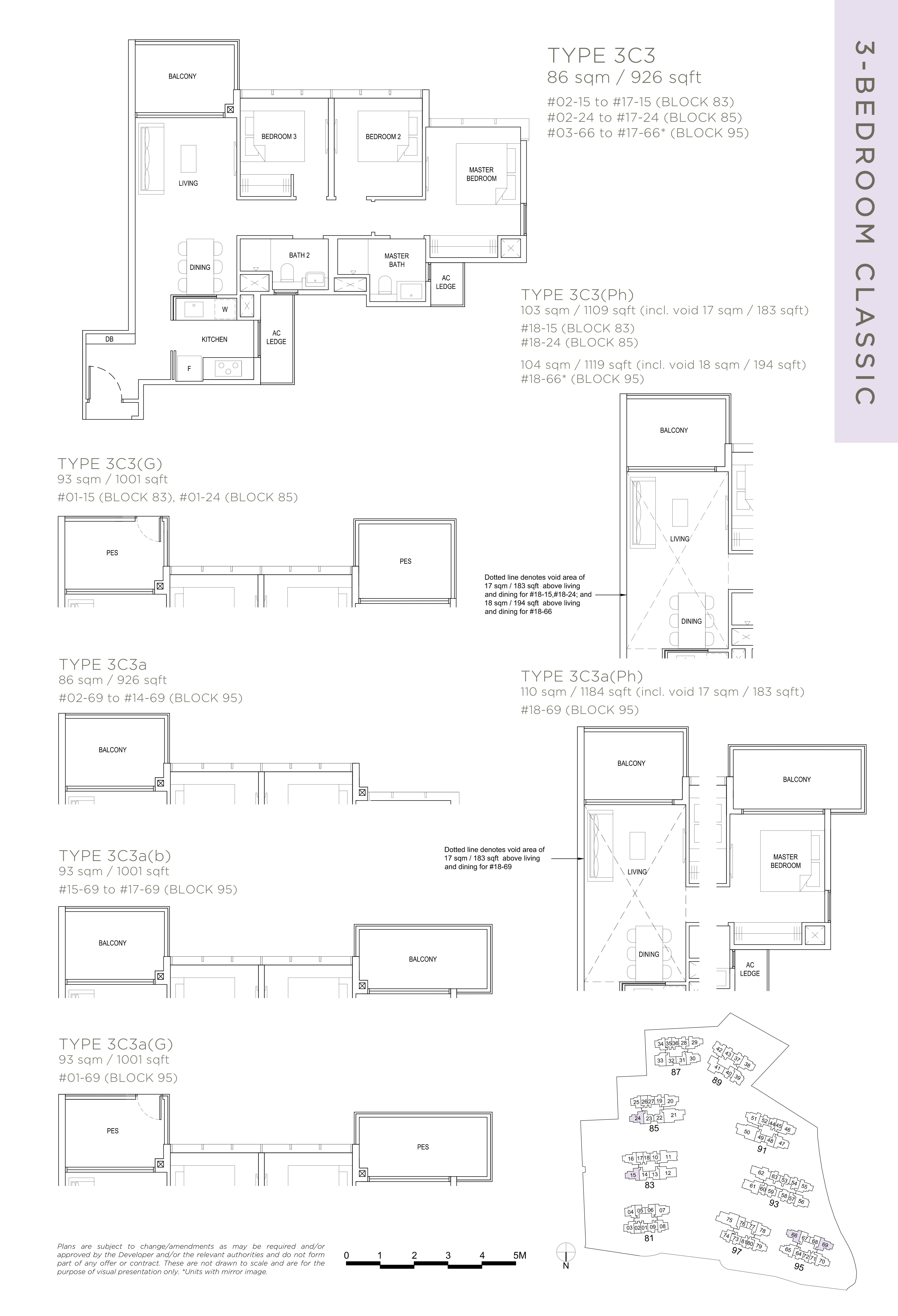 The Florence Residences 3-bedroom 3卧房 -3C3