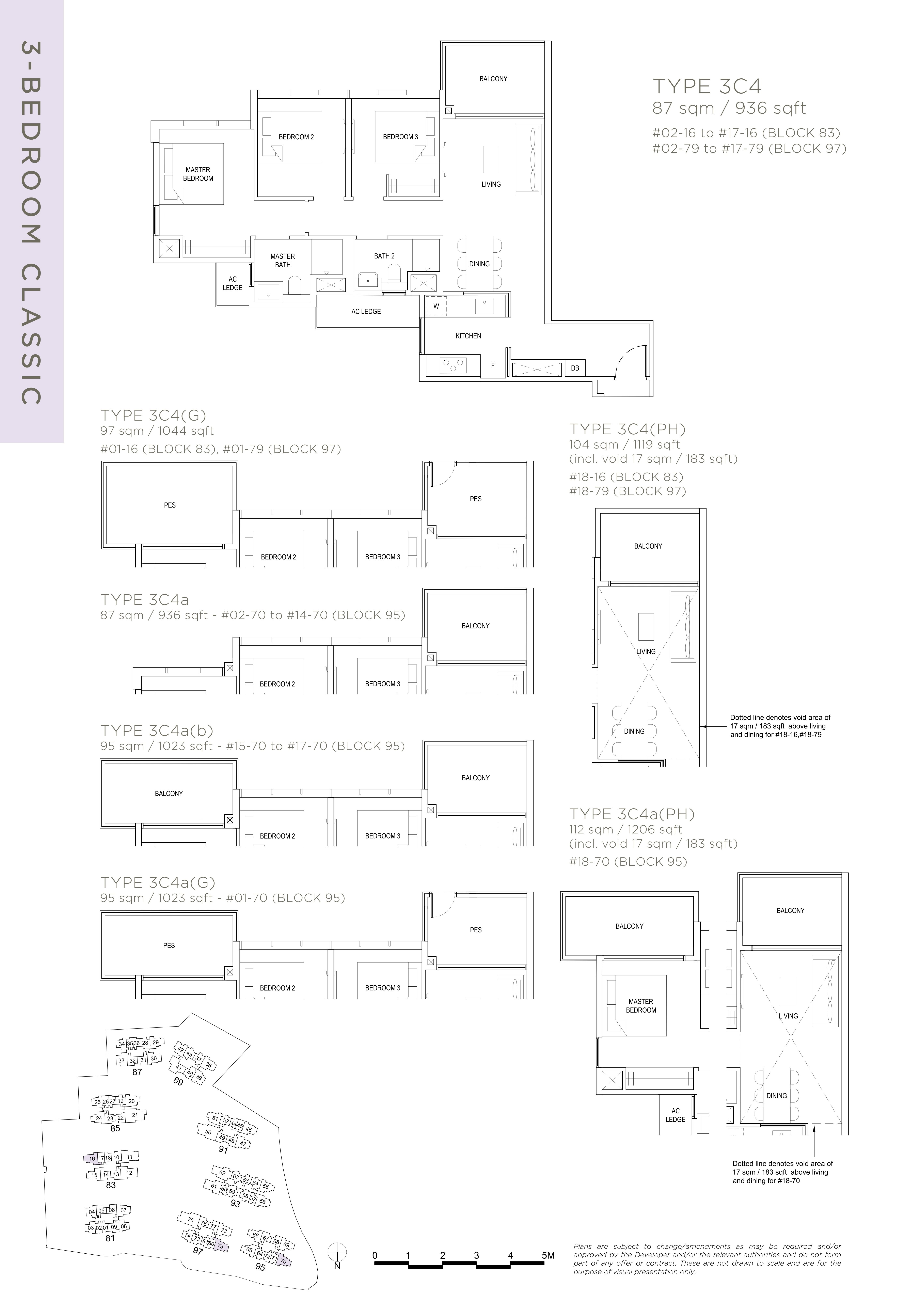 The Florence Residences 3-bedroom 3卧房 -3C4