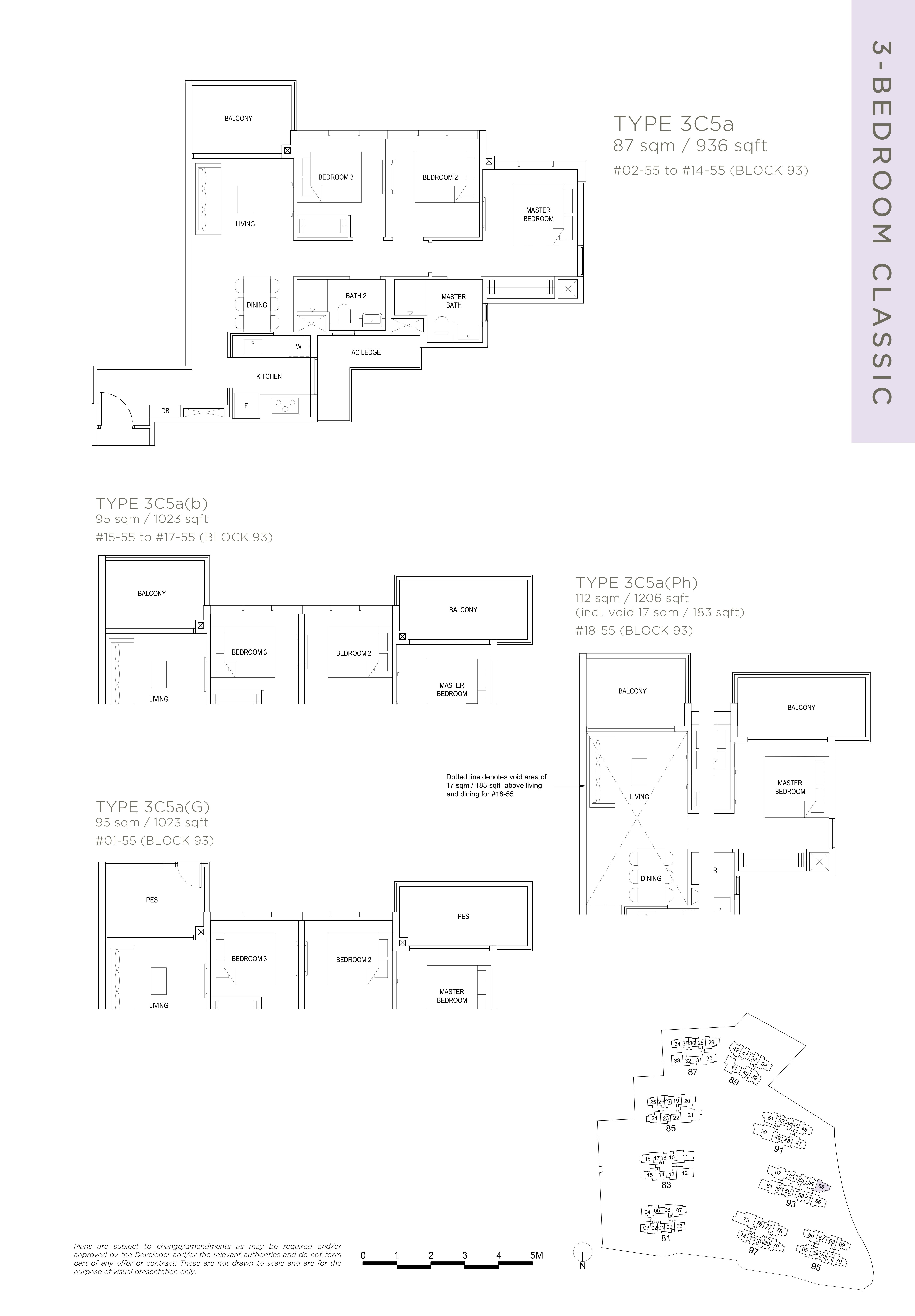 The Florence Residences 3-bedroom 3卧房 -3C5a