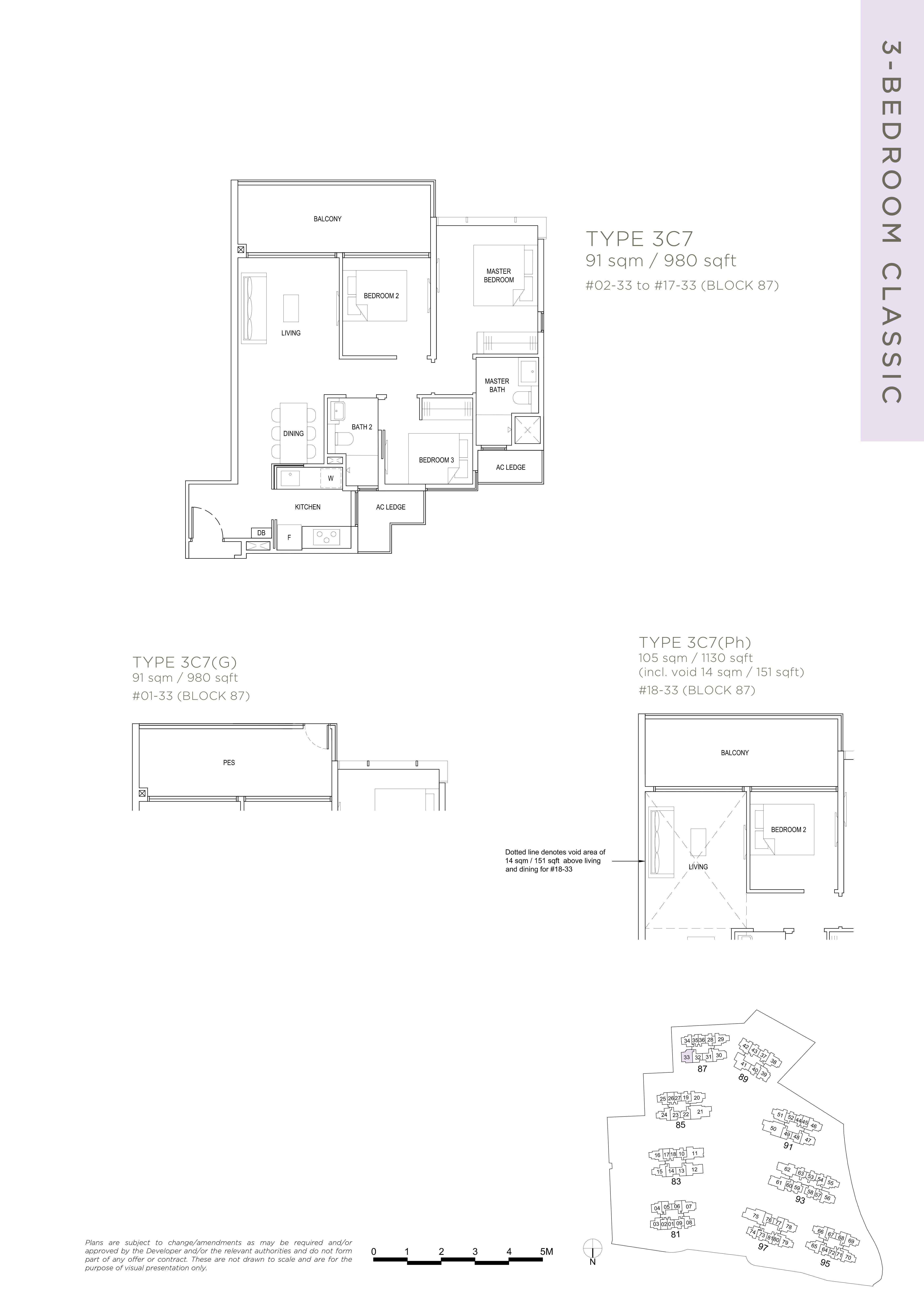 The Florence Residences 3-bedroom 3卧房 -3C7