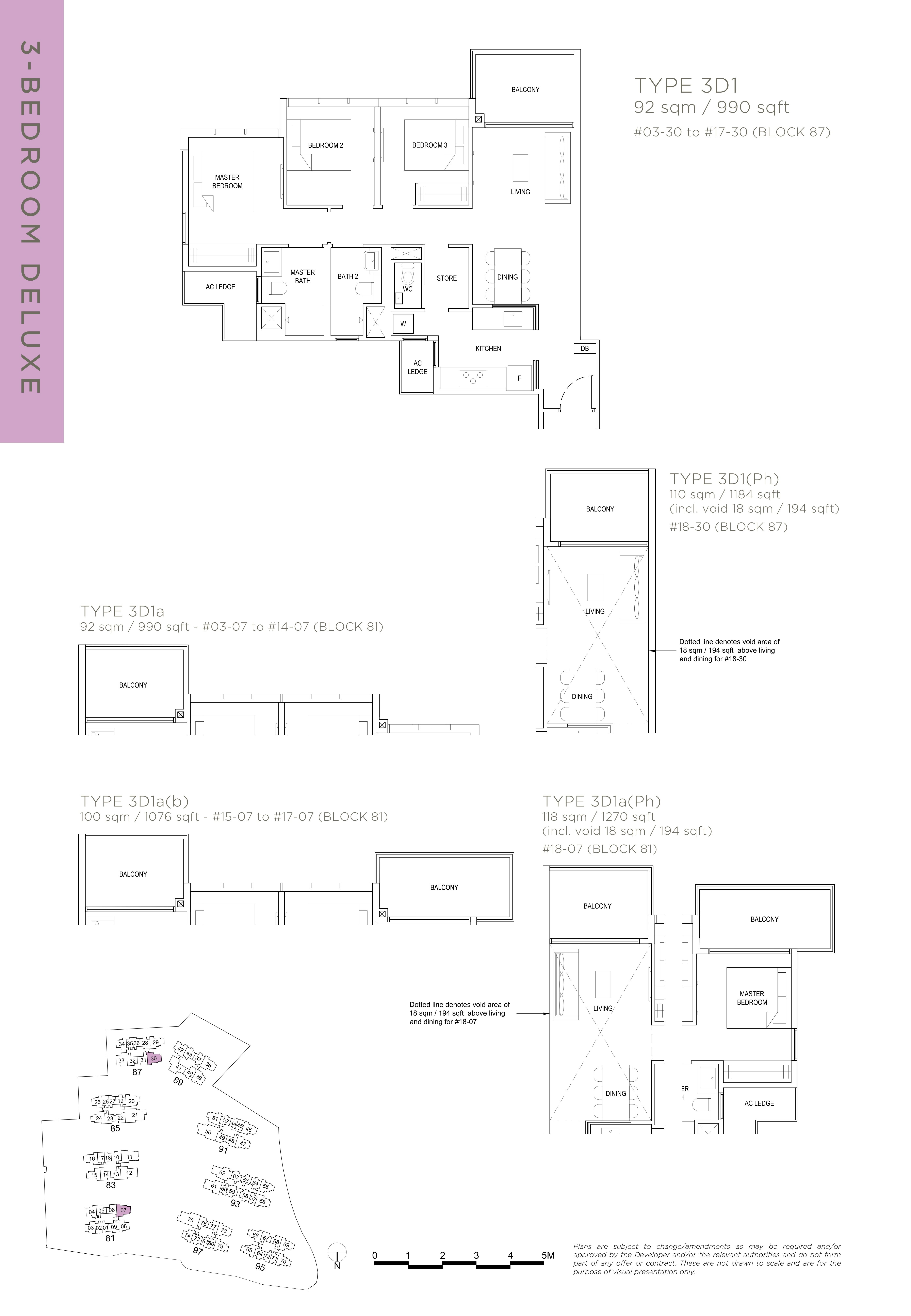 The Florence Residences 3-bedroom 3卧房 -3D1