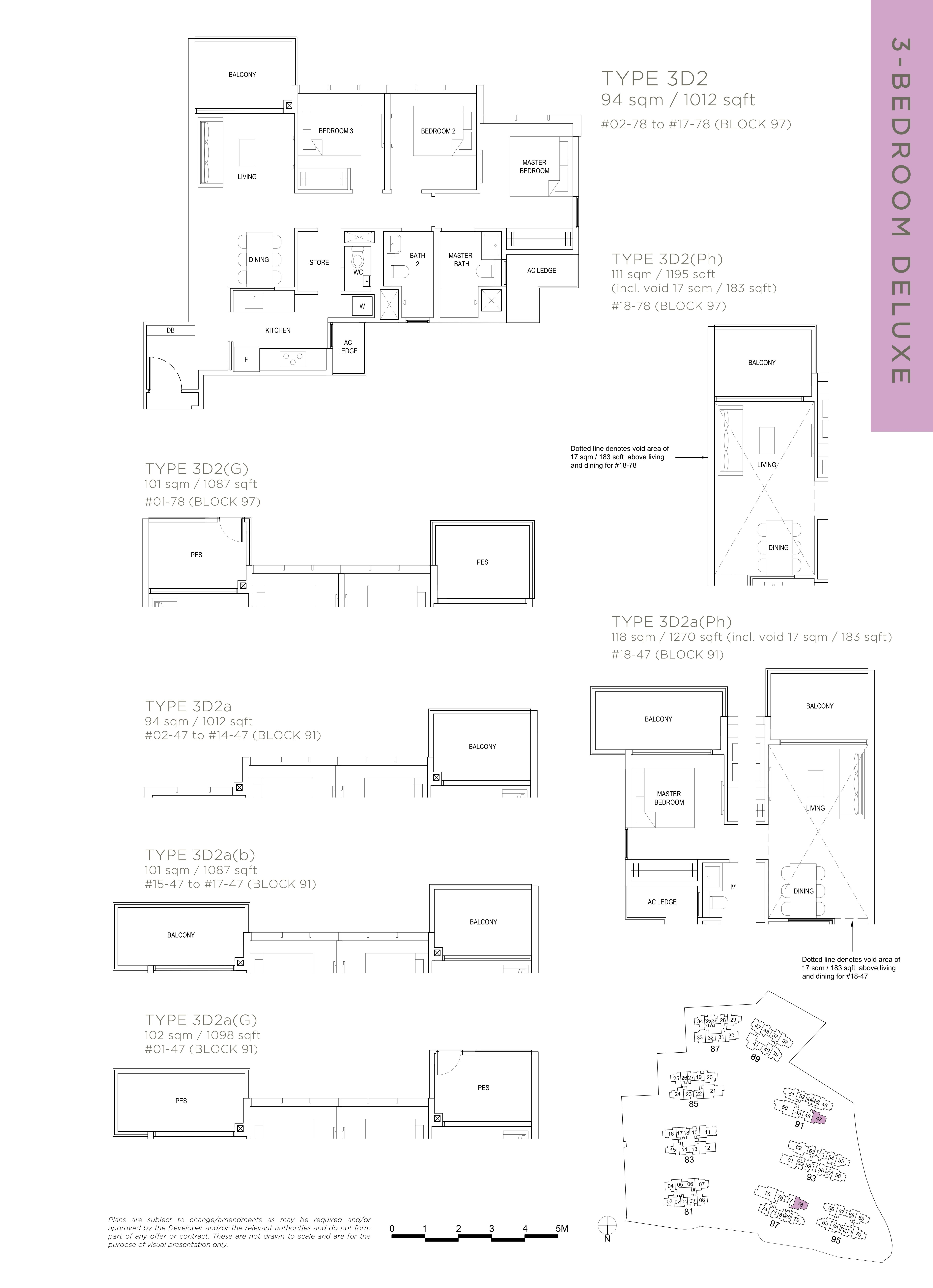 The Florence Residences 3-bedroom 3卧房 -3D2