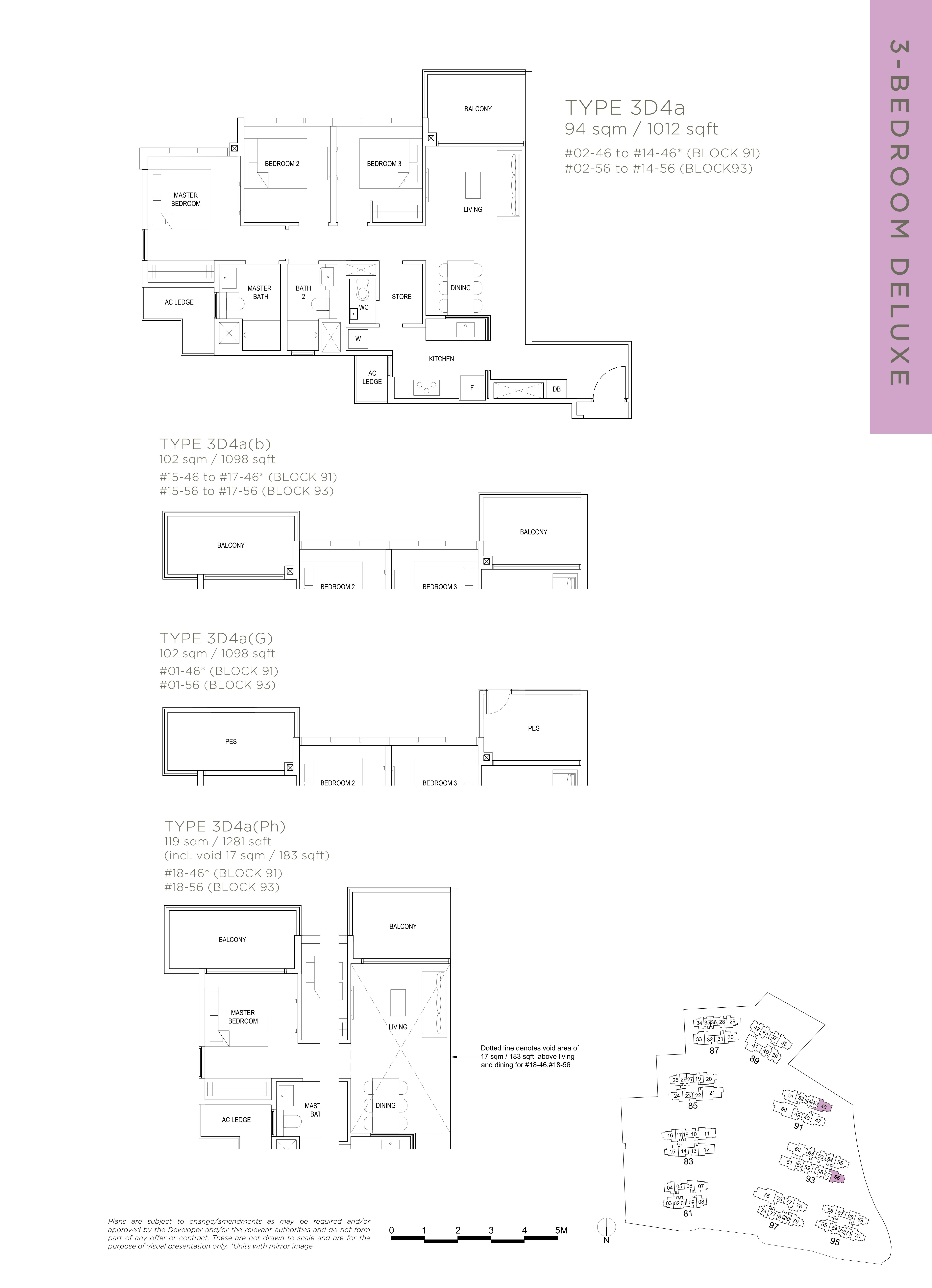 The Florence Residences 3-bedroom 3卧房 -3D4a
