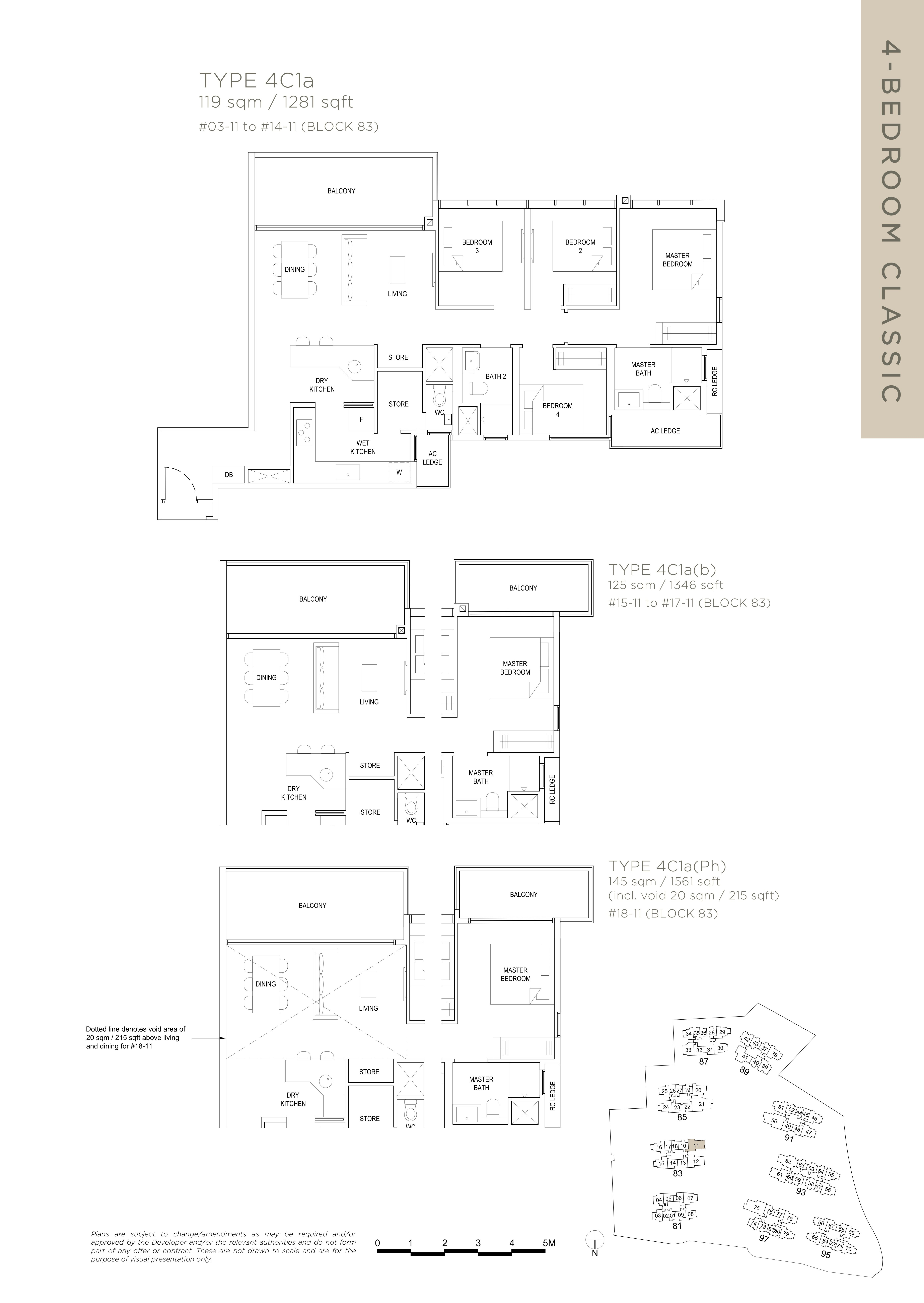 The Florence Residences 4-bedroom 4卧房 -4C1a