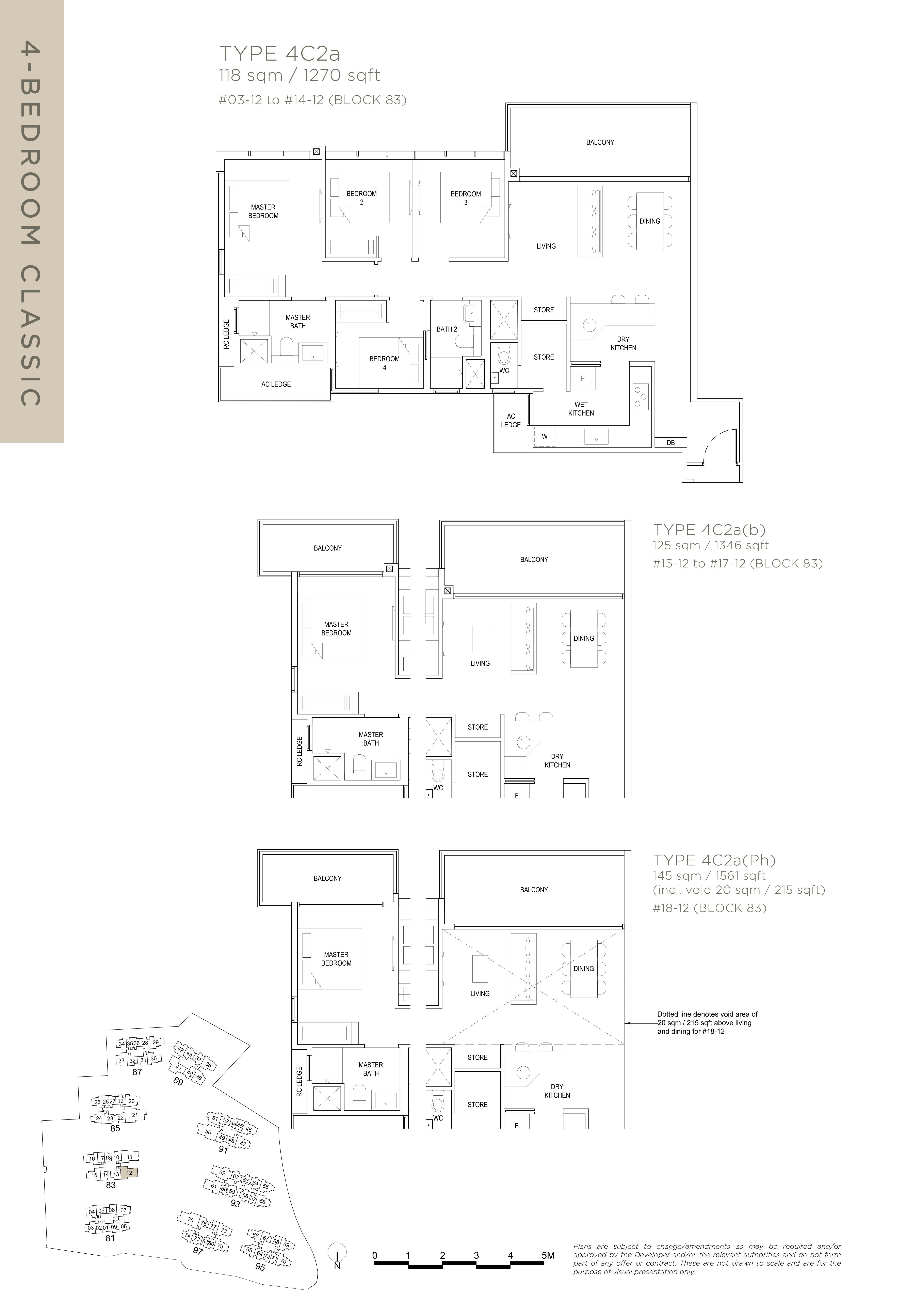 The Florence Residences 4-bedroom 4卧房 -4C2a