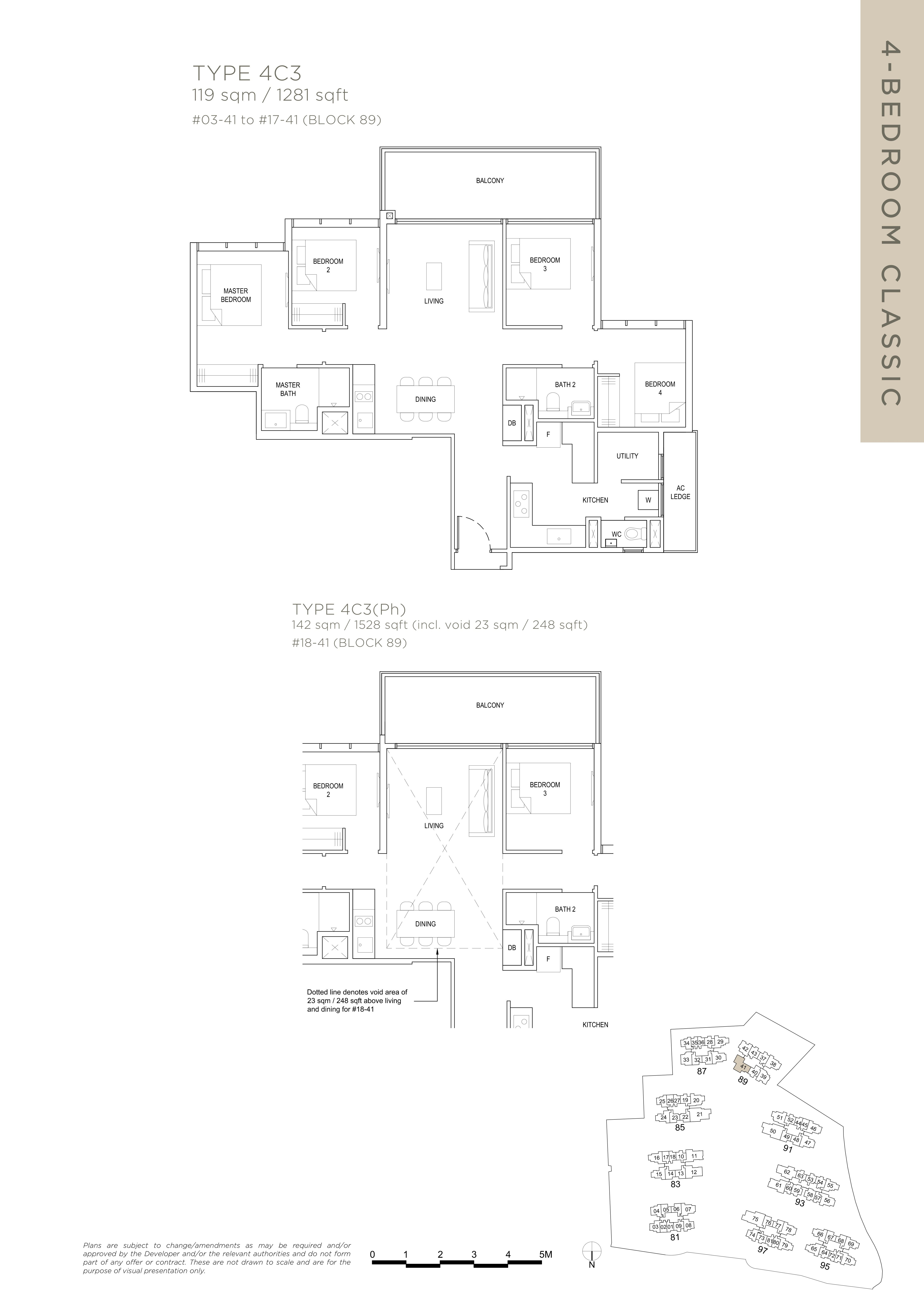 The Florence Residences 4-bedroom 4卧房 -4C3