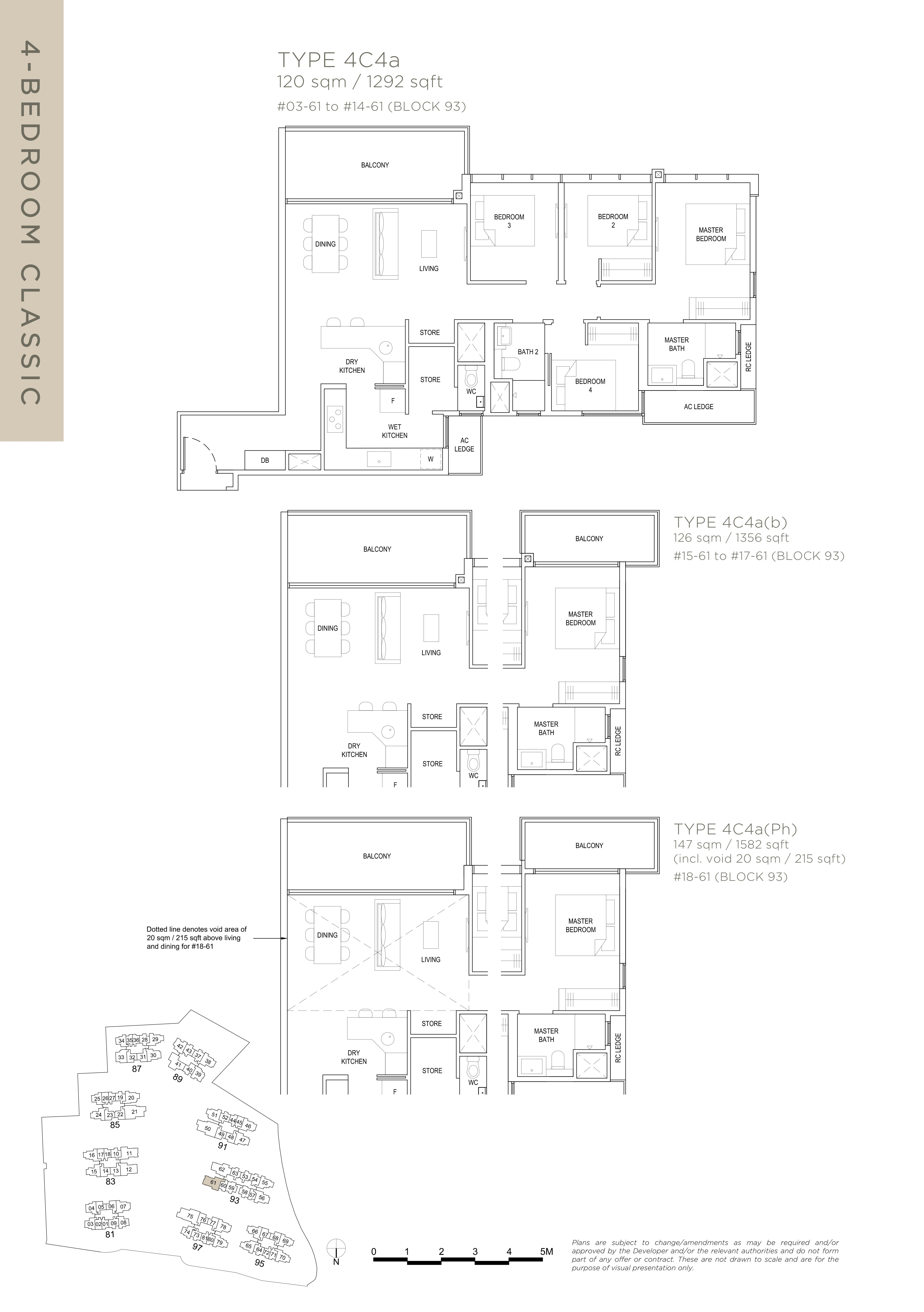 The Florence Residences 4-bedroom 4卧房 -4C4a