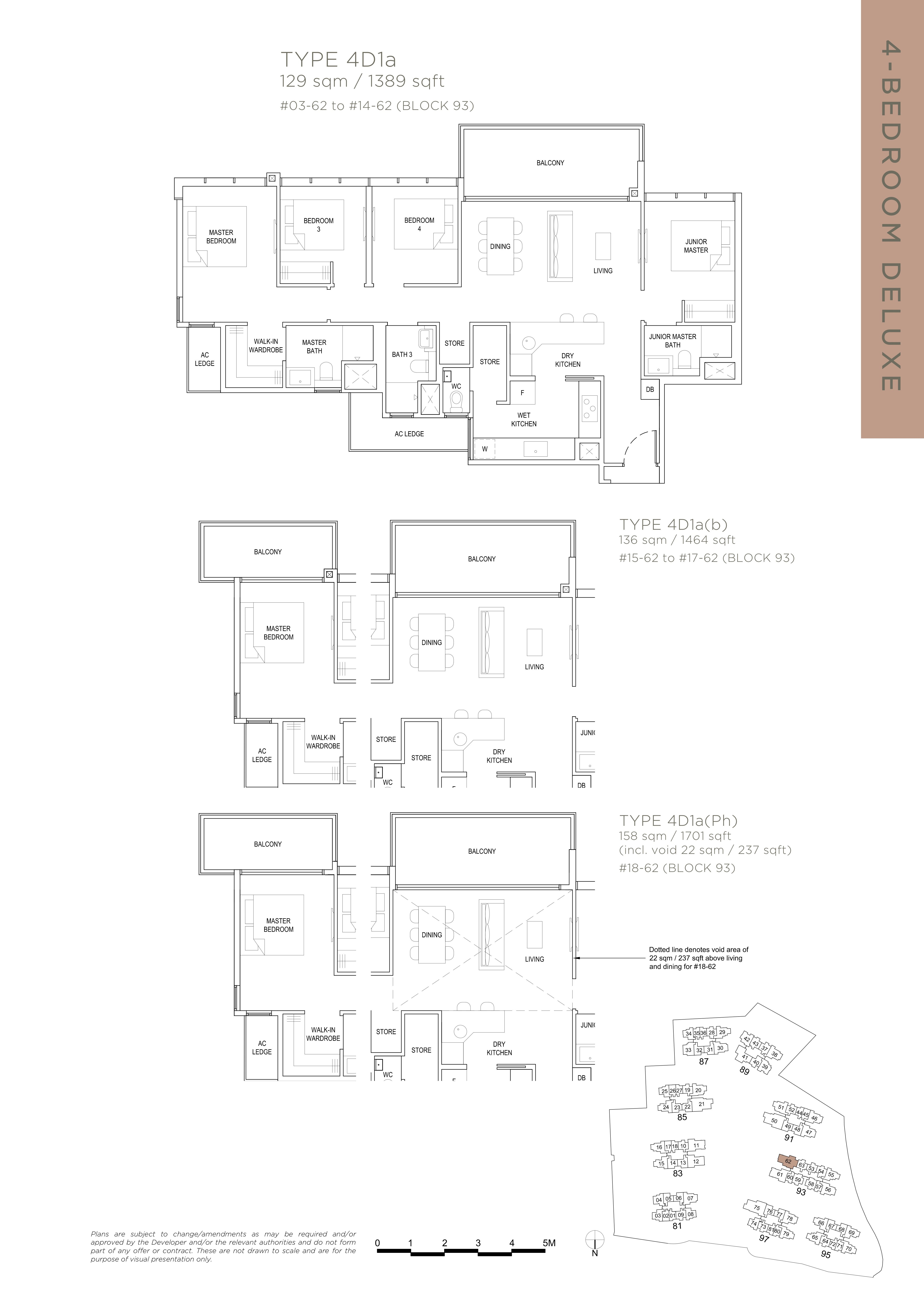 The Florence Residences 4-bedroom 4卧房 -4D1a