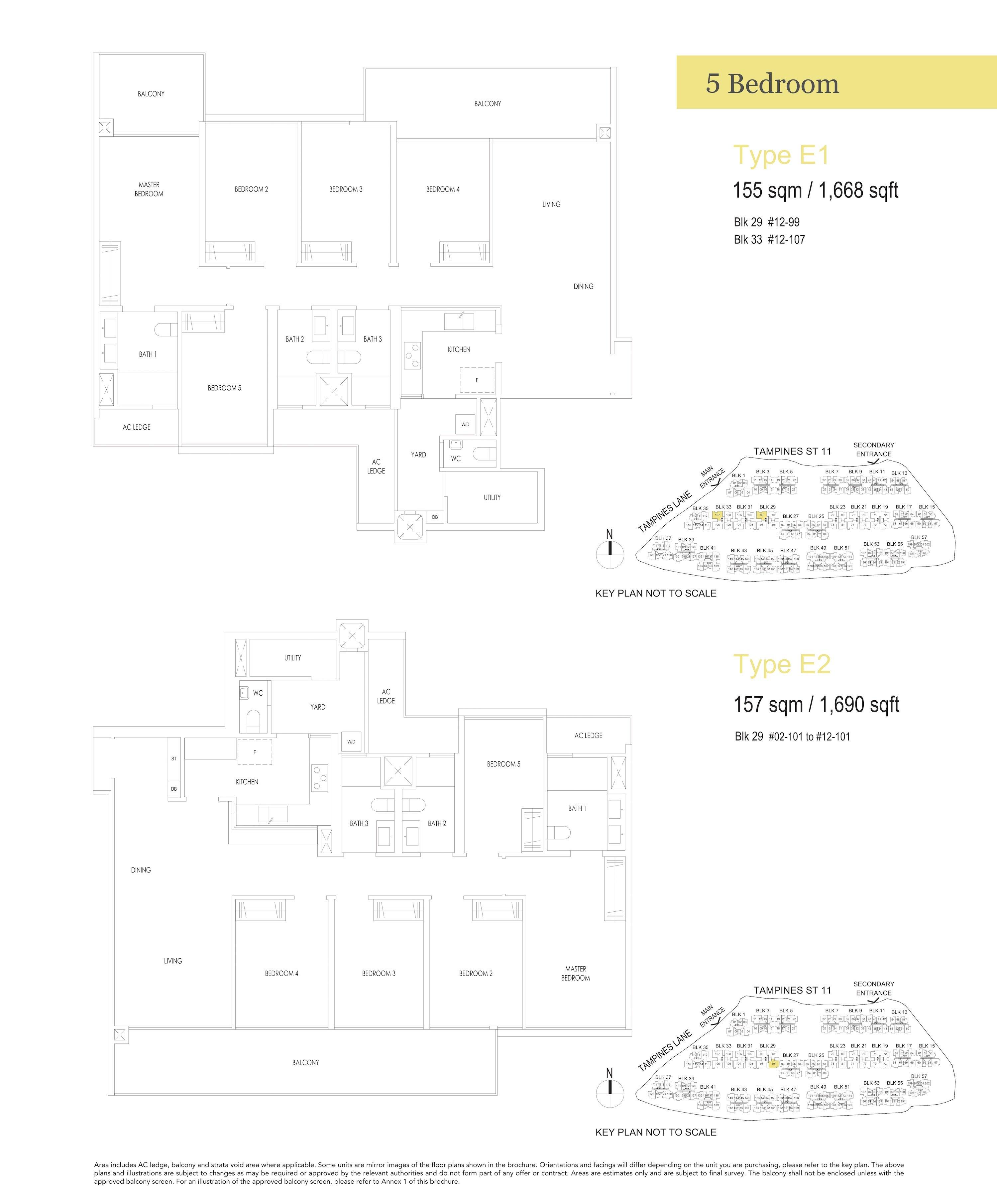 Treasure At Tampines 聚宝园 5-bedroom 5卧房 E1 E2