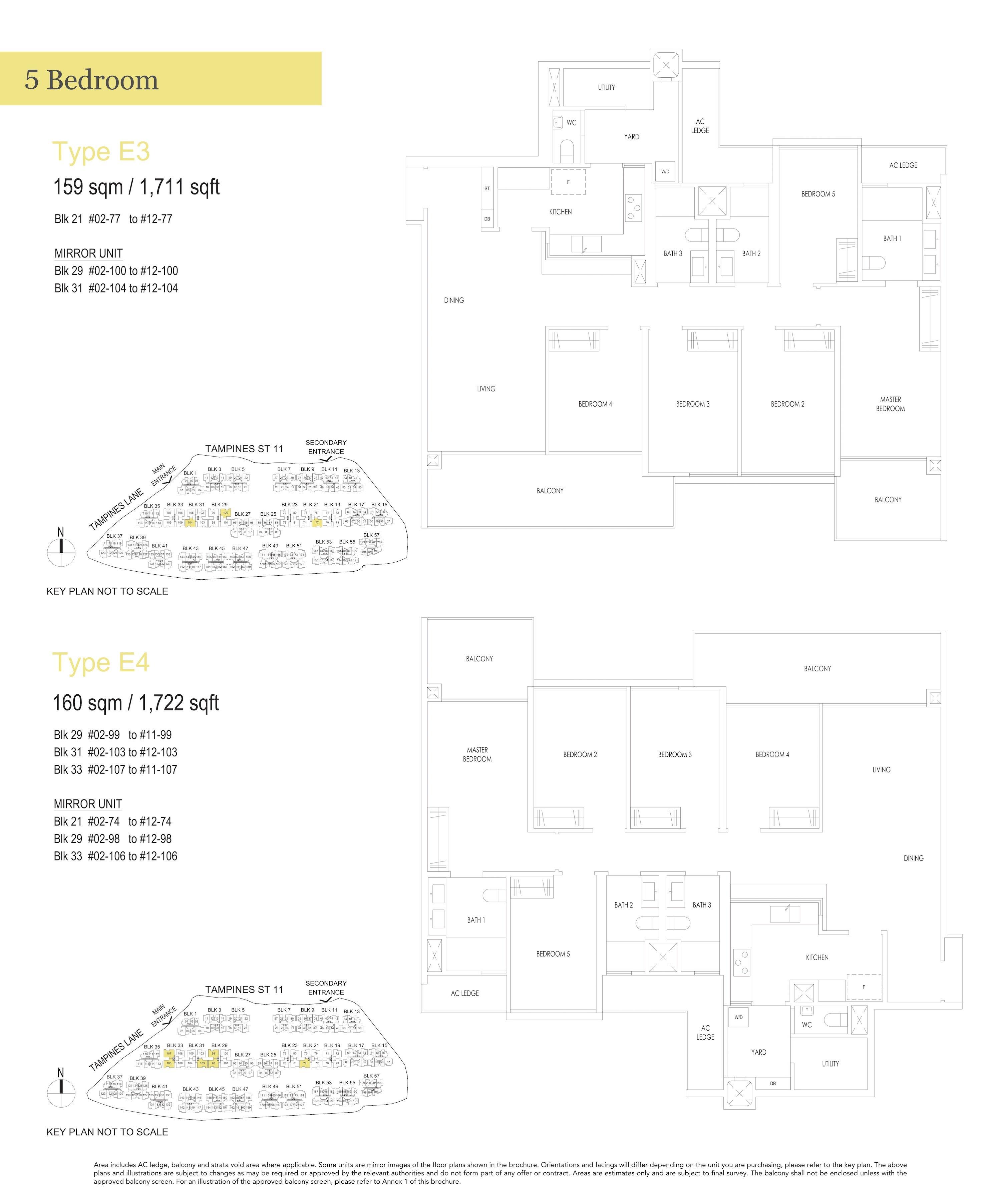 Treasure At Tampines 聚宝园 5-bedroom 5卧房 E3 E4
