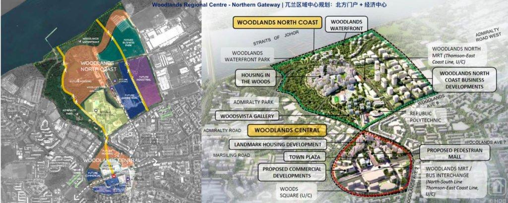 woodlands regional centre plan map 兀兰区域中心规划