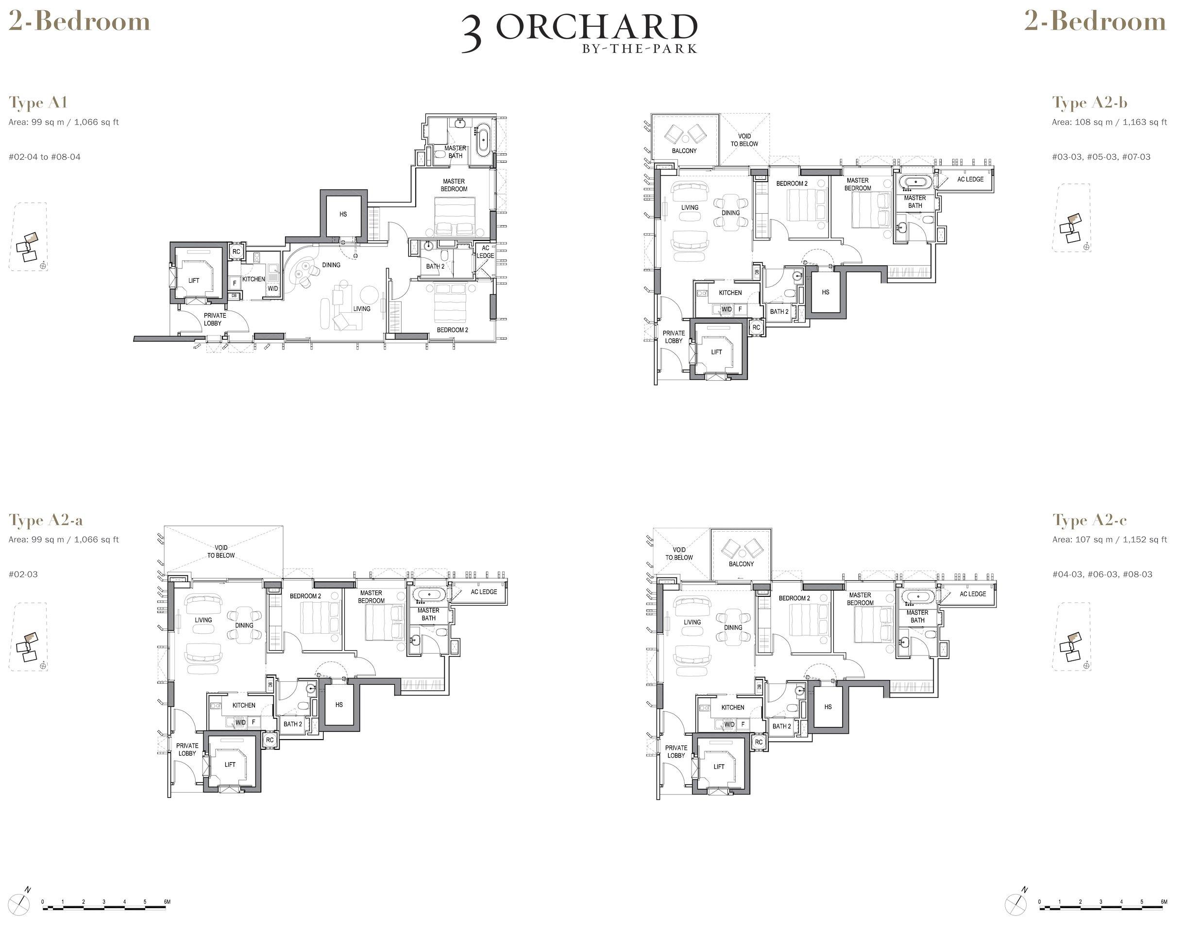 乌节三翠林 3 Orchard By The Park 2 bedroom wood