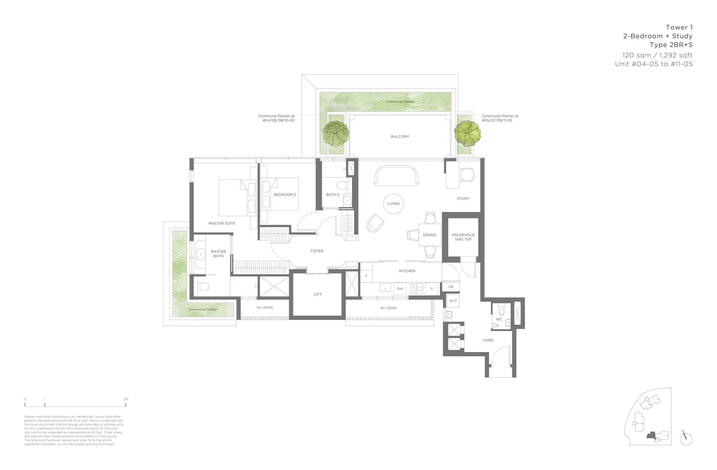 15 Holland Hill 荷兰山公寓 2-bedroom study 2br+s