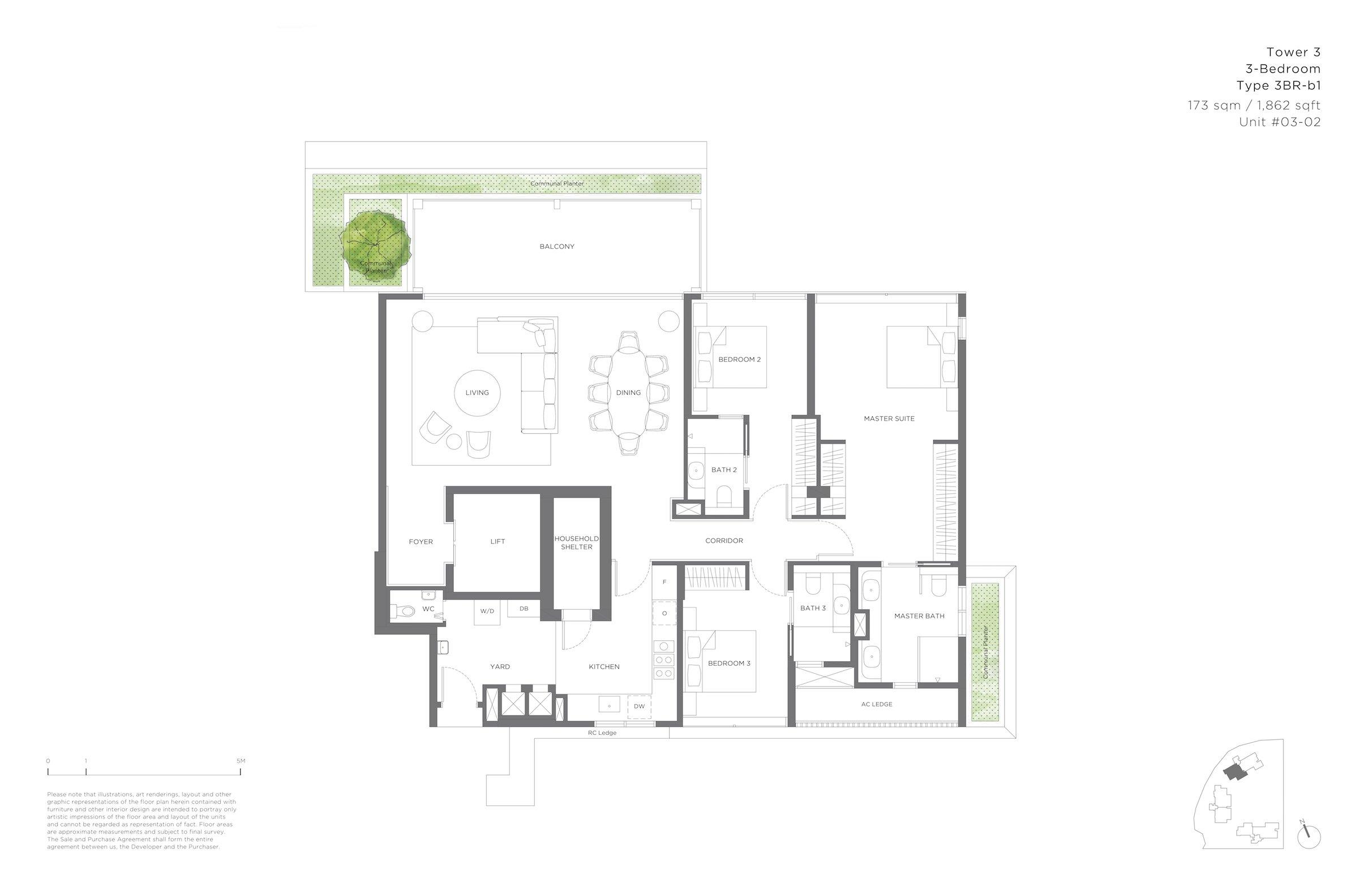 15 Holland Hill 荷兰山公寓 3-bedroom 3br-b1