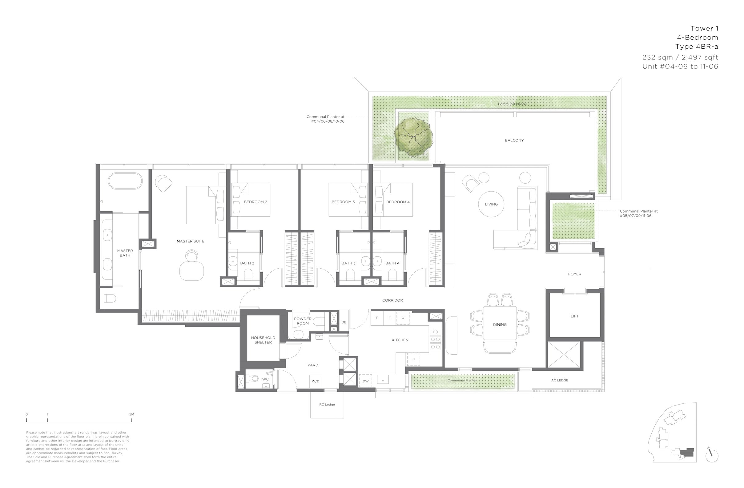 15 Holland Hill 荷兰山公寓 4-bedroom 4br-a