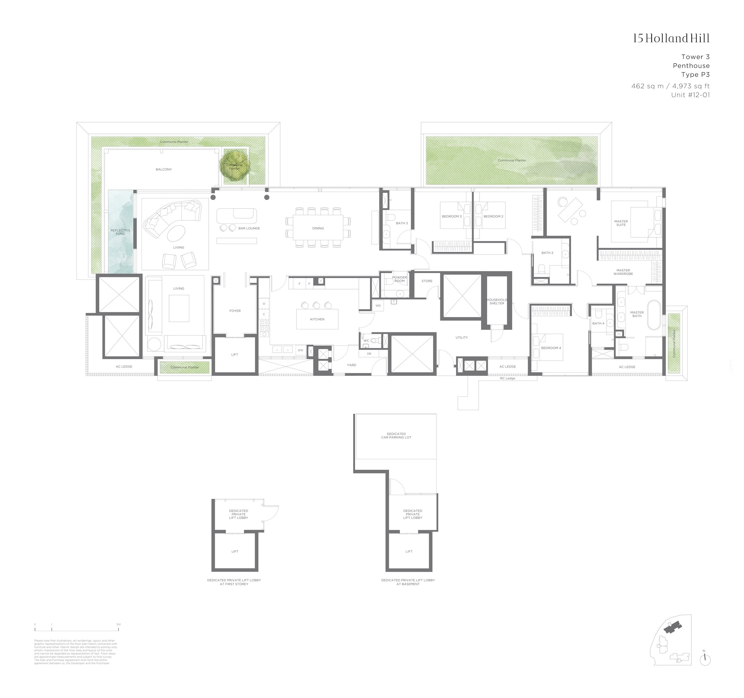 15 Holland Hill 荷兰山公寓 4-bedroom Penthouse p3
