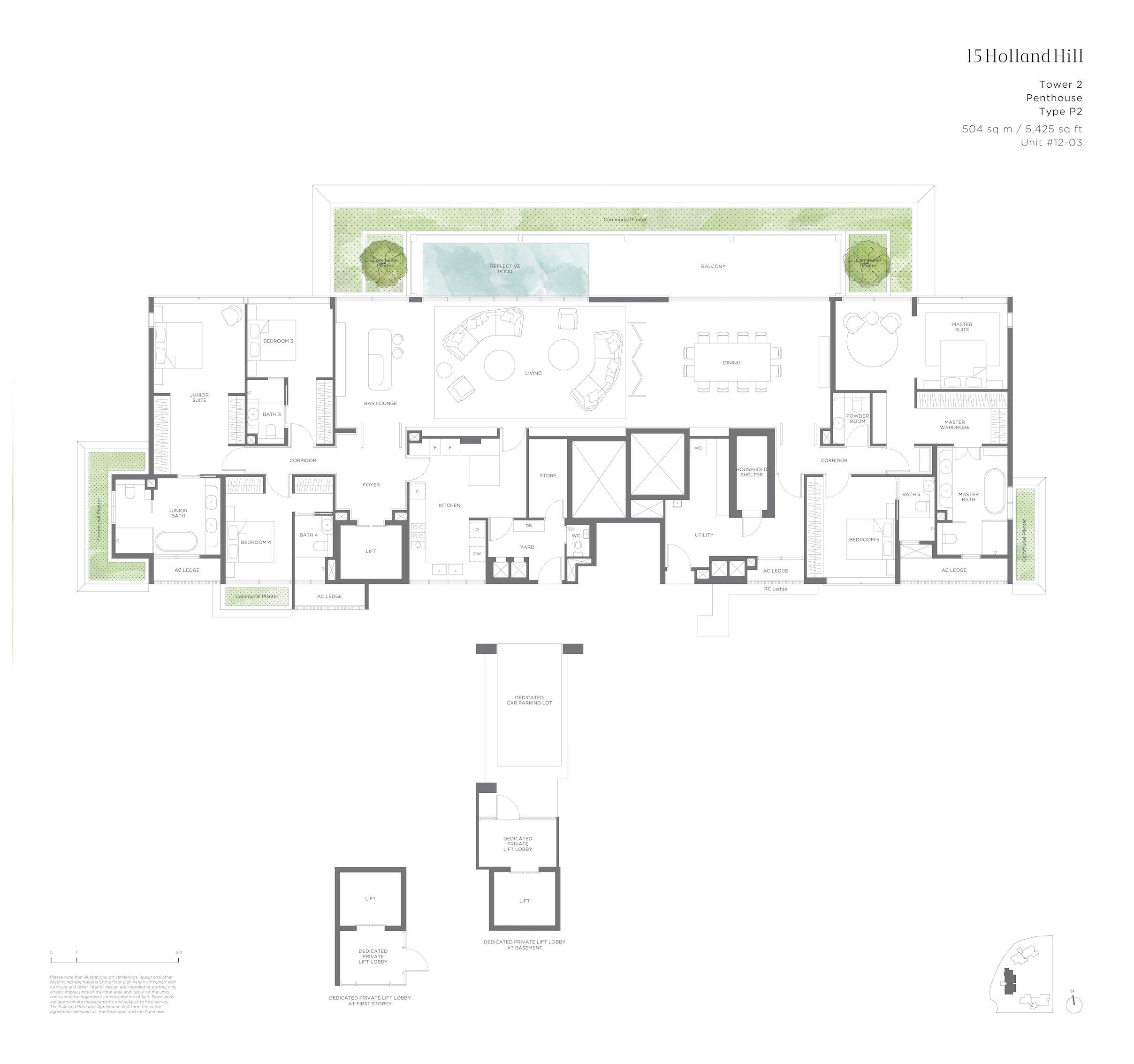 15 Holland Hill 荷兰山公寓 5-bedroom Penthouse p2