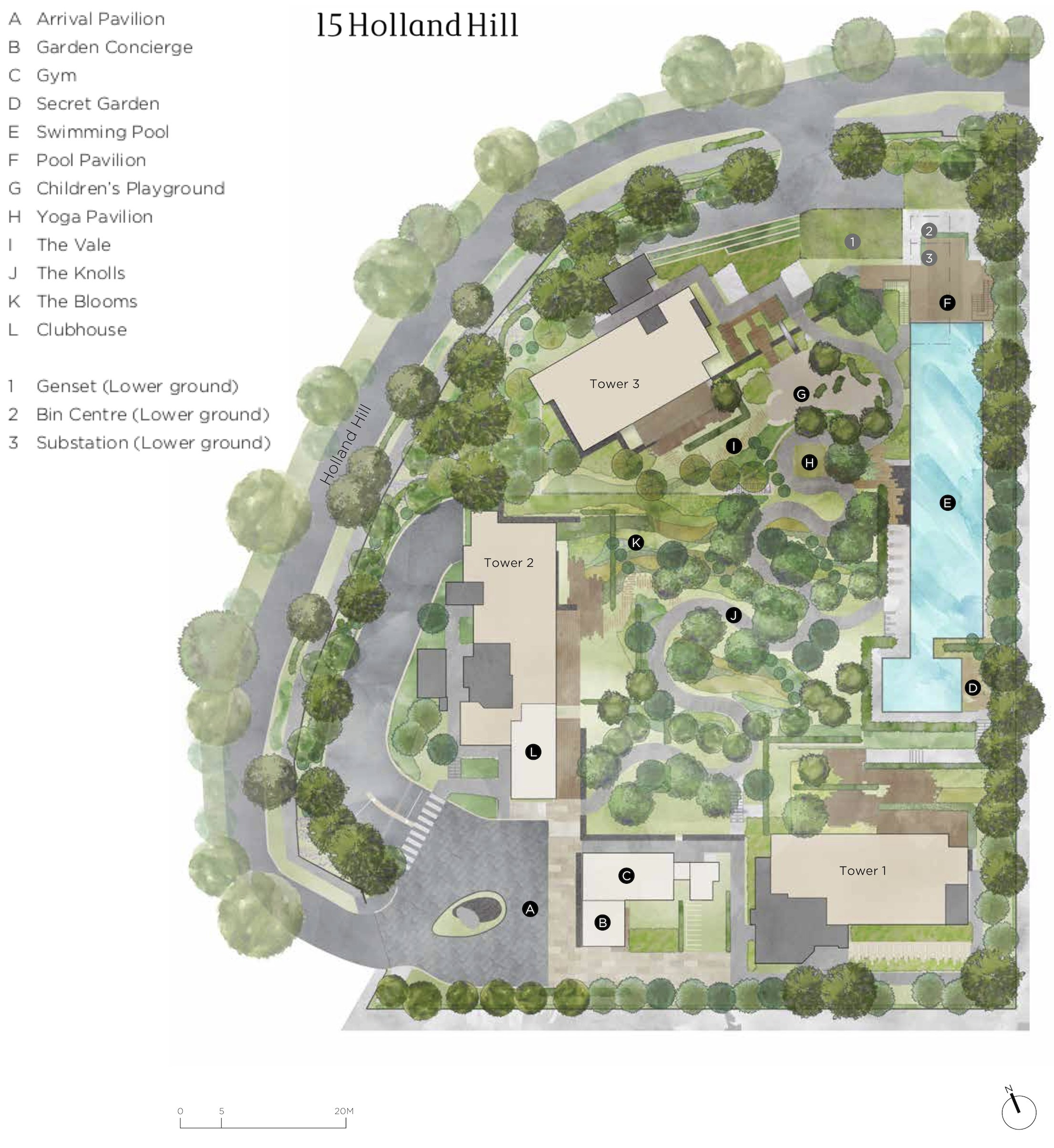 15 Holland Hill 荷兰山公寓 site plan