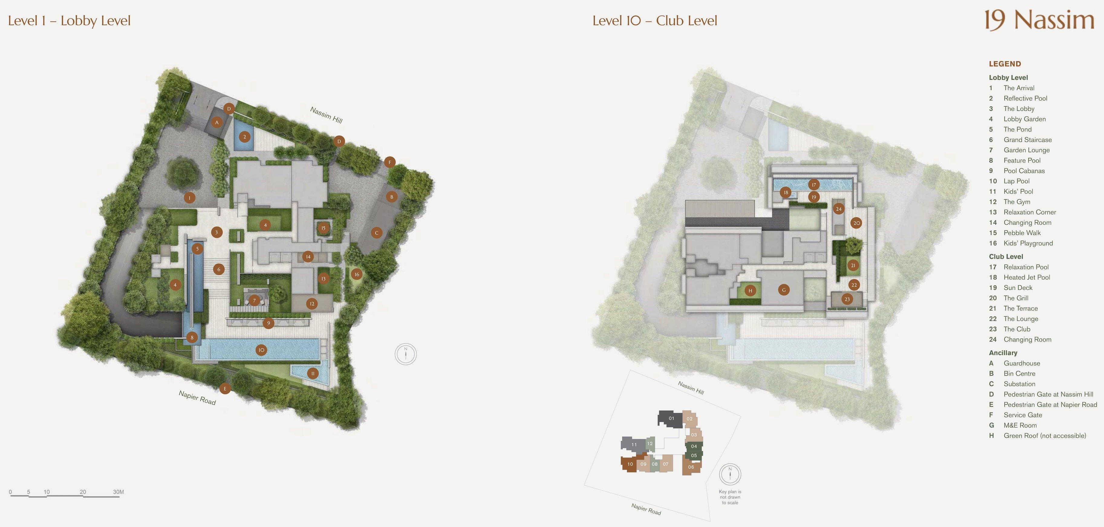 19 Nassim 纳森山公寓 site plan
