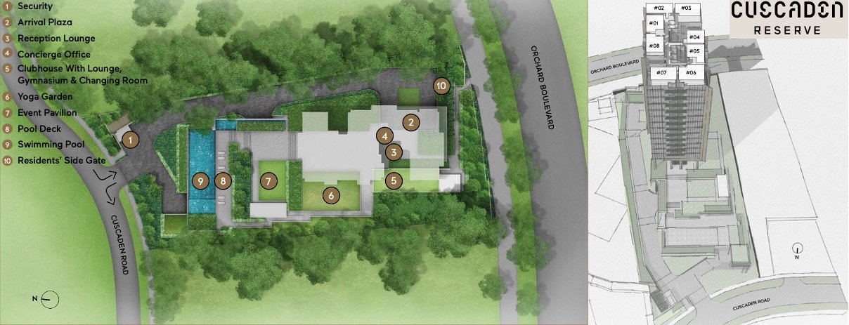 Cuscaden Reserve 公寓 condo site plan