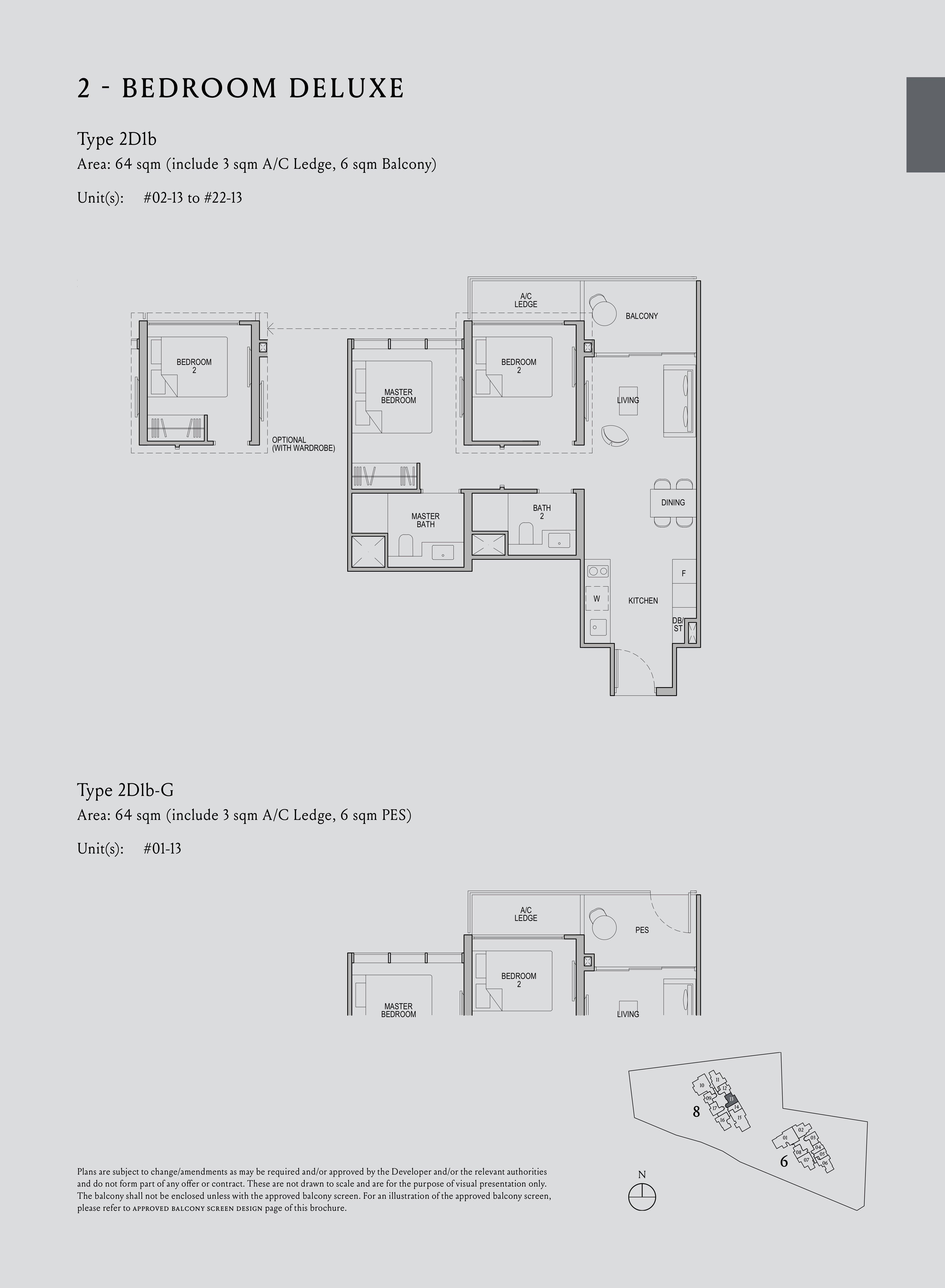 Kopar At Newton 纽顿铜源 2-bedroom deluxe 2D1b floor plan