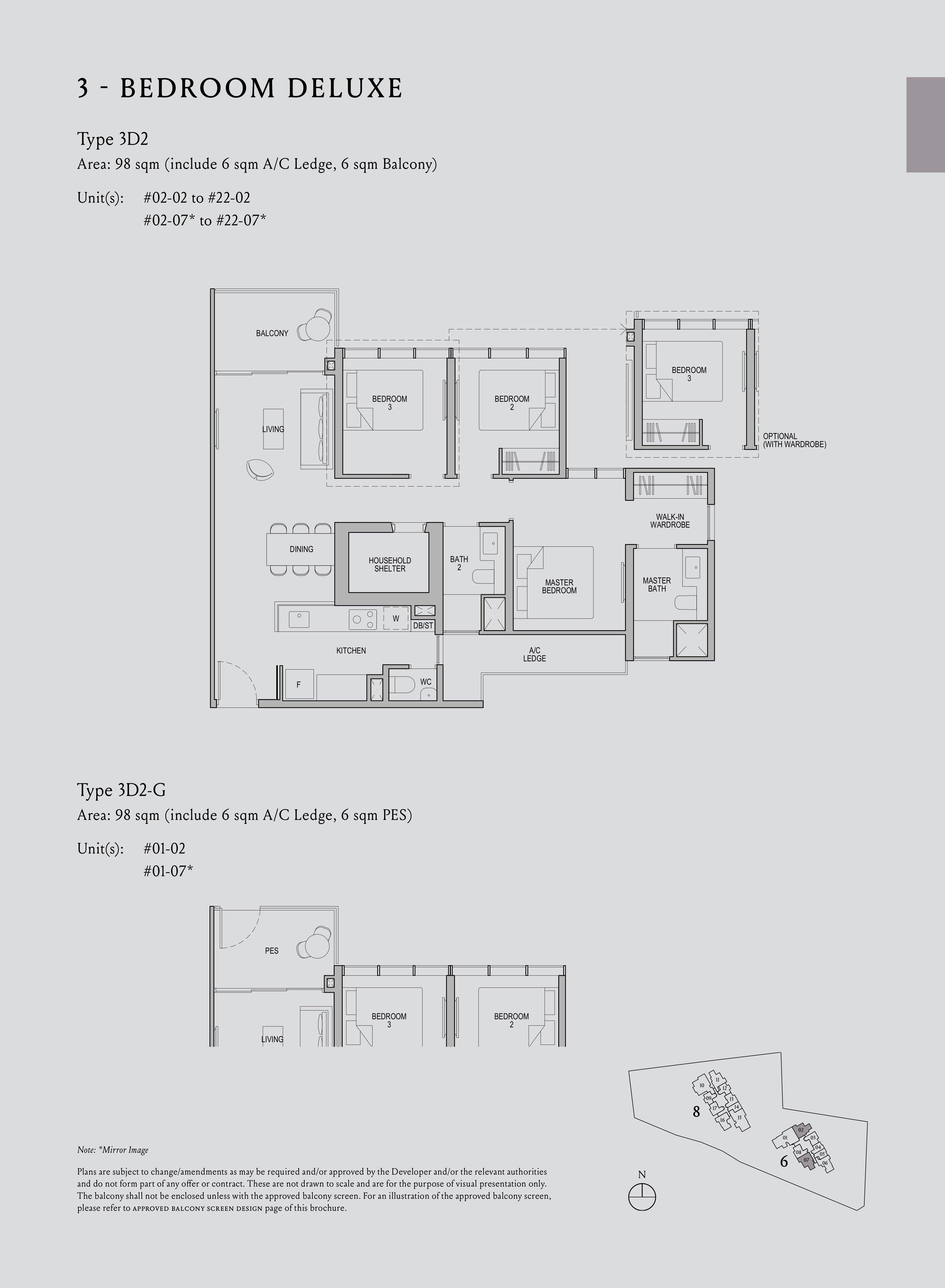 Kopar At Newton 纽顿铜源 3-bedroom deluxe 3D2 floor plan