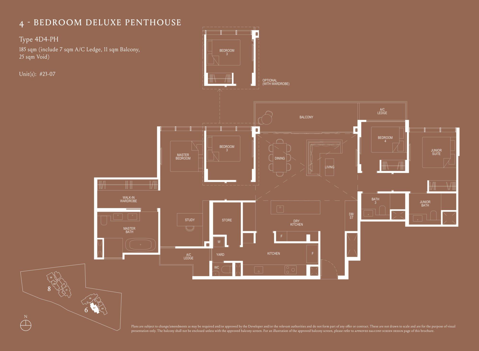 Kopar At Newton 纽顿铜源 4-bedroom deluxe penthouse 4D4-PH floor plan