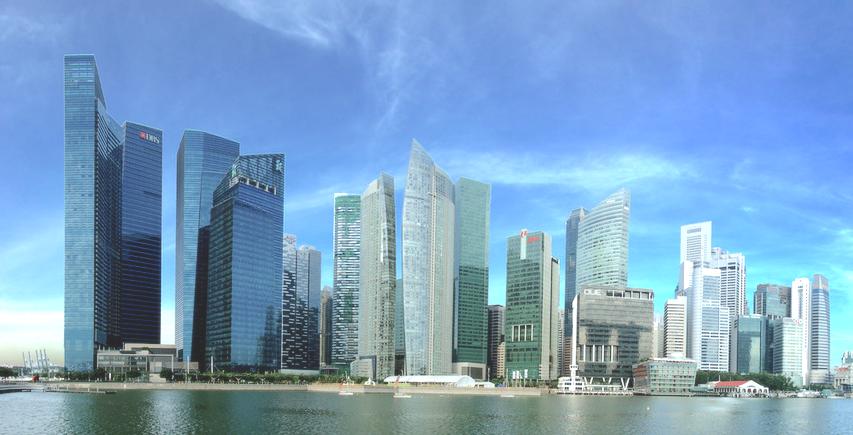 Singapore marina bay residence condos滨海湾金融区公寓群