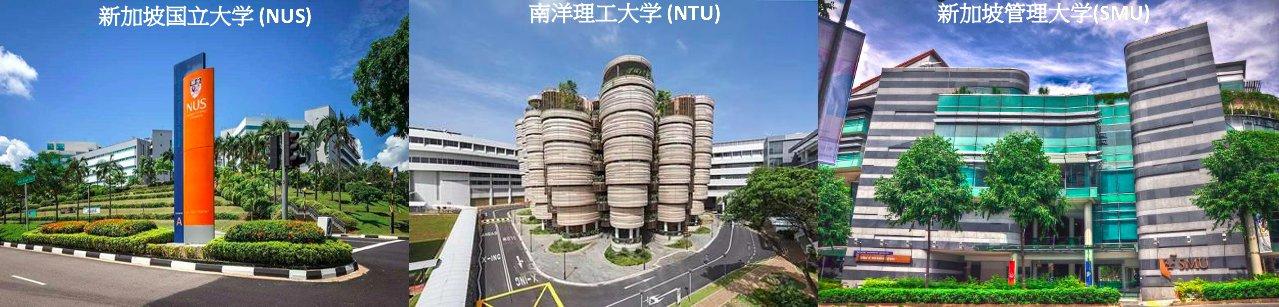 Singapore top three universities NUS-NTU-SMU