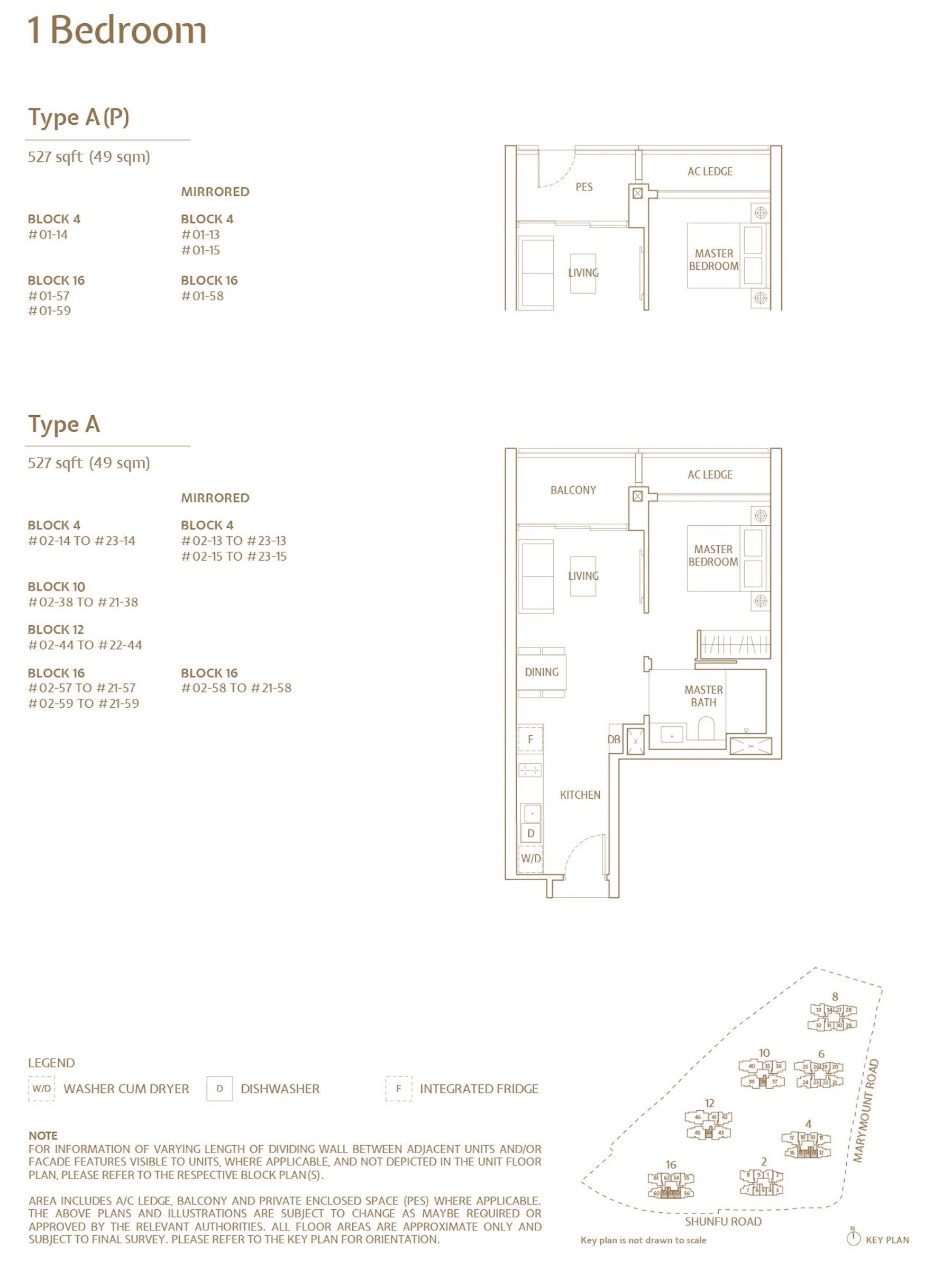 Jadescape 顺福轩 condo 1 bedroom type A