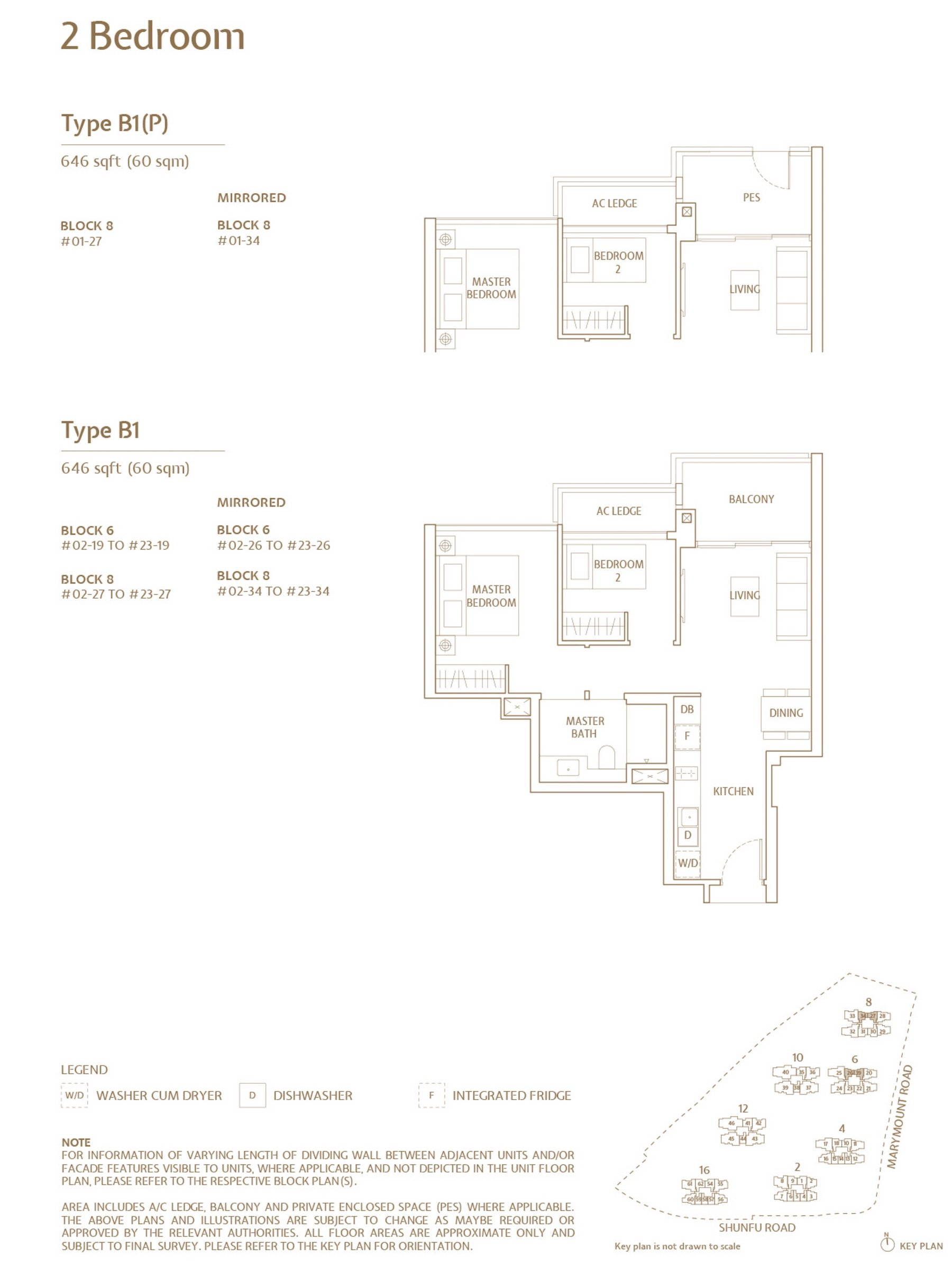 Jadescape 顺福轩 condo 2 bedroom type B1
