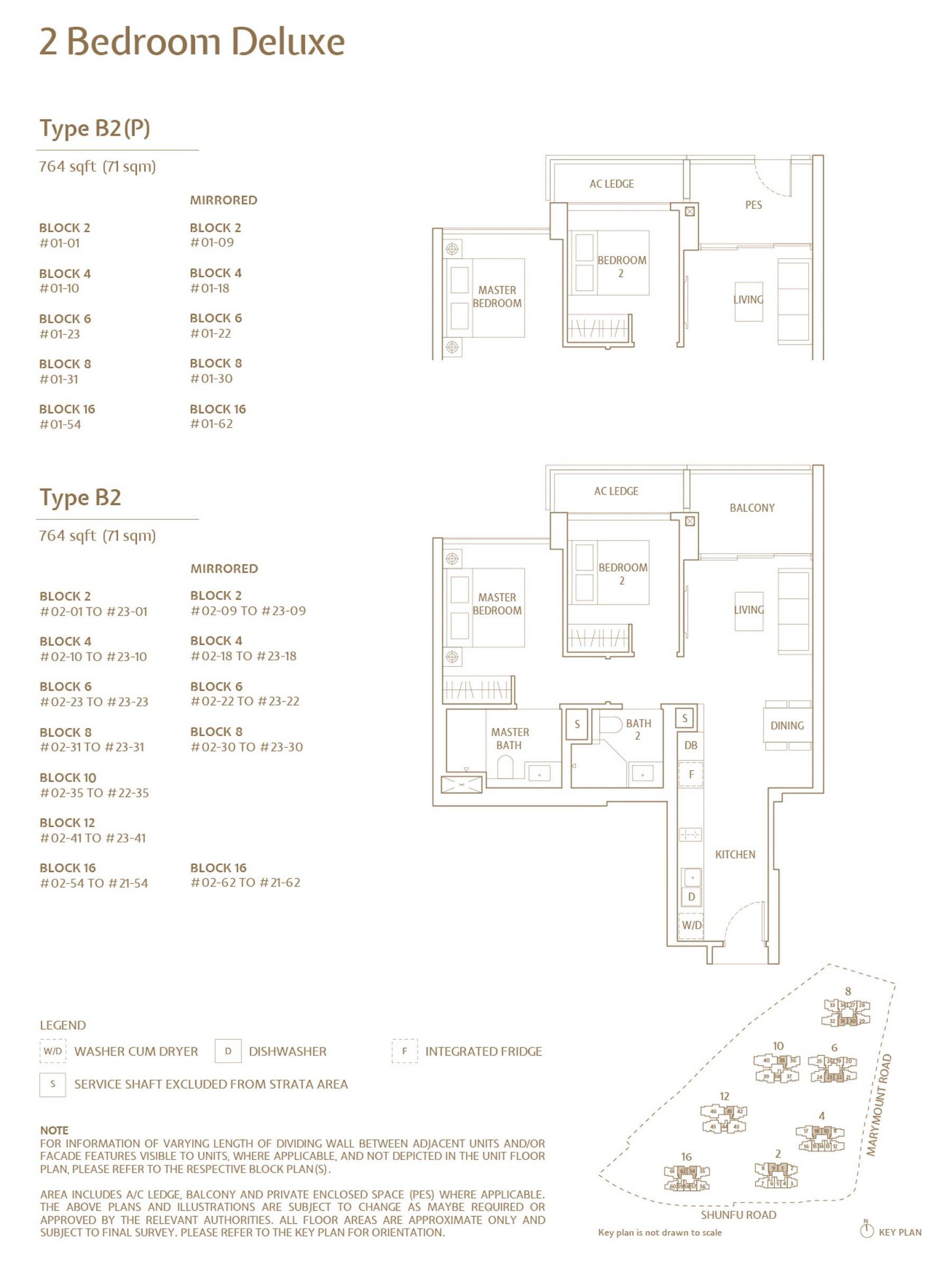 Jadescape 顺福轩 condo 2 bedroom type B2