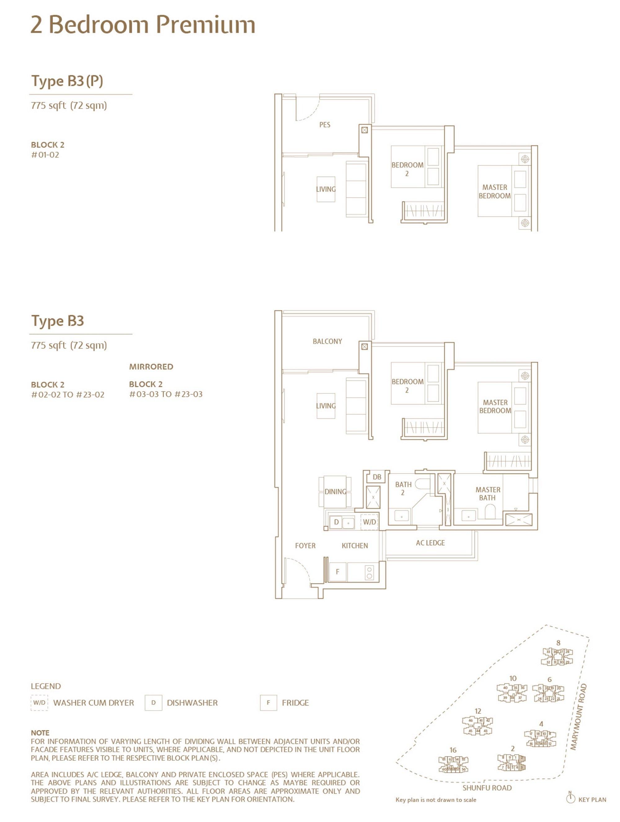 Jadescape 顺福轩 condo 2 bedroom type B3