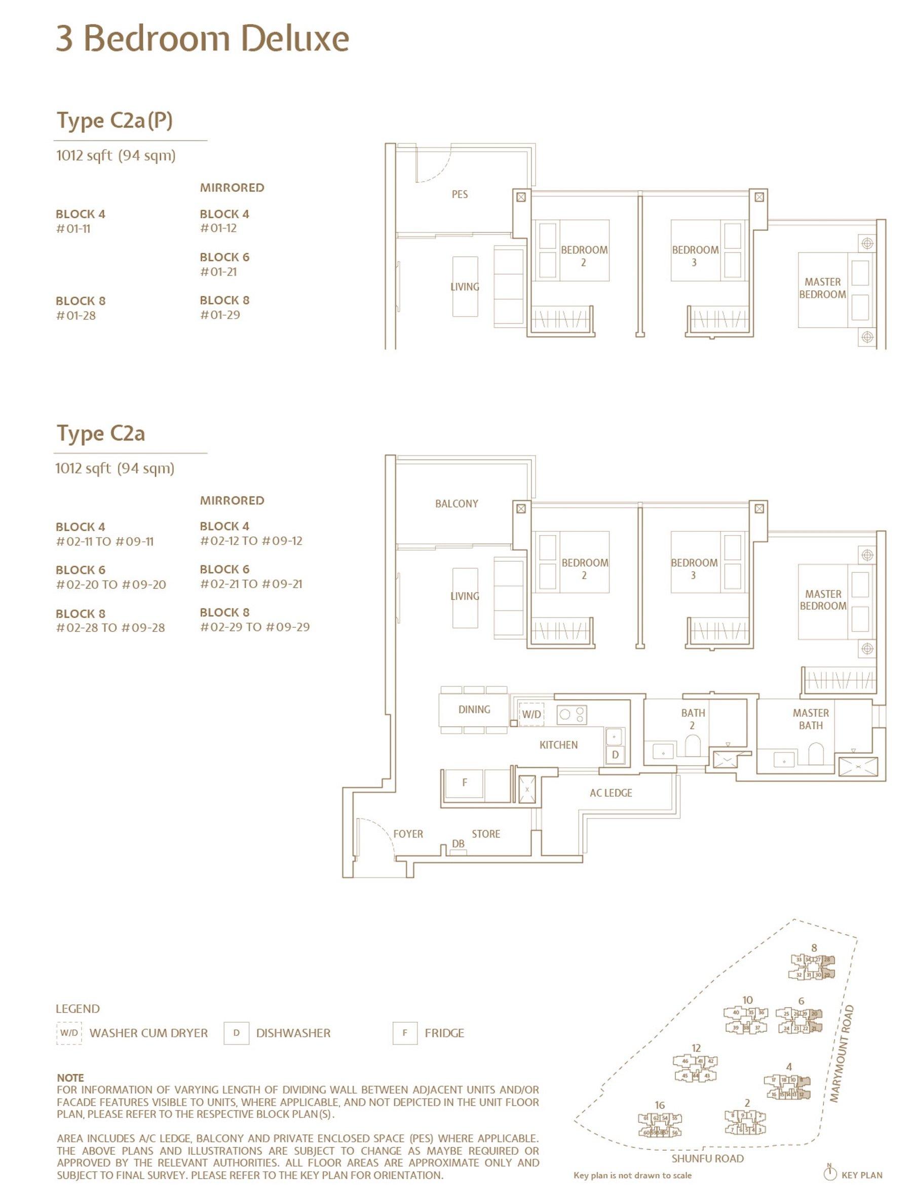Jadescape 顺福轩 condo 3 bedroom type C2a