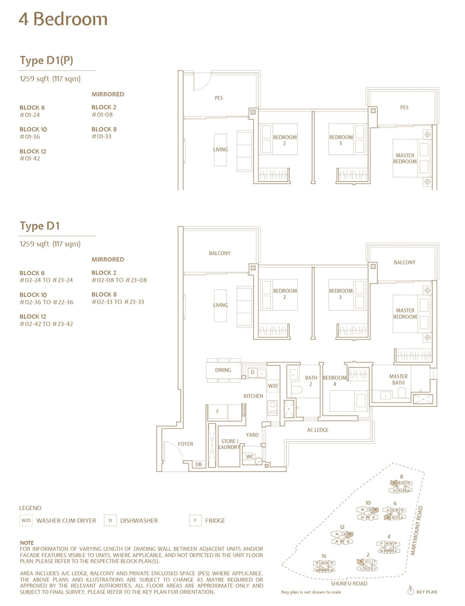 Jadescape 顺福轩 condo 4 bedroom type D1