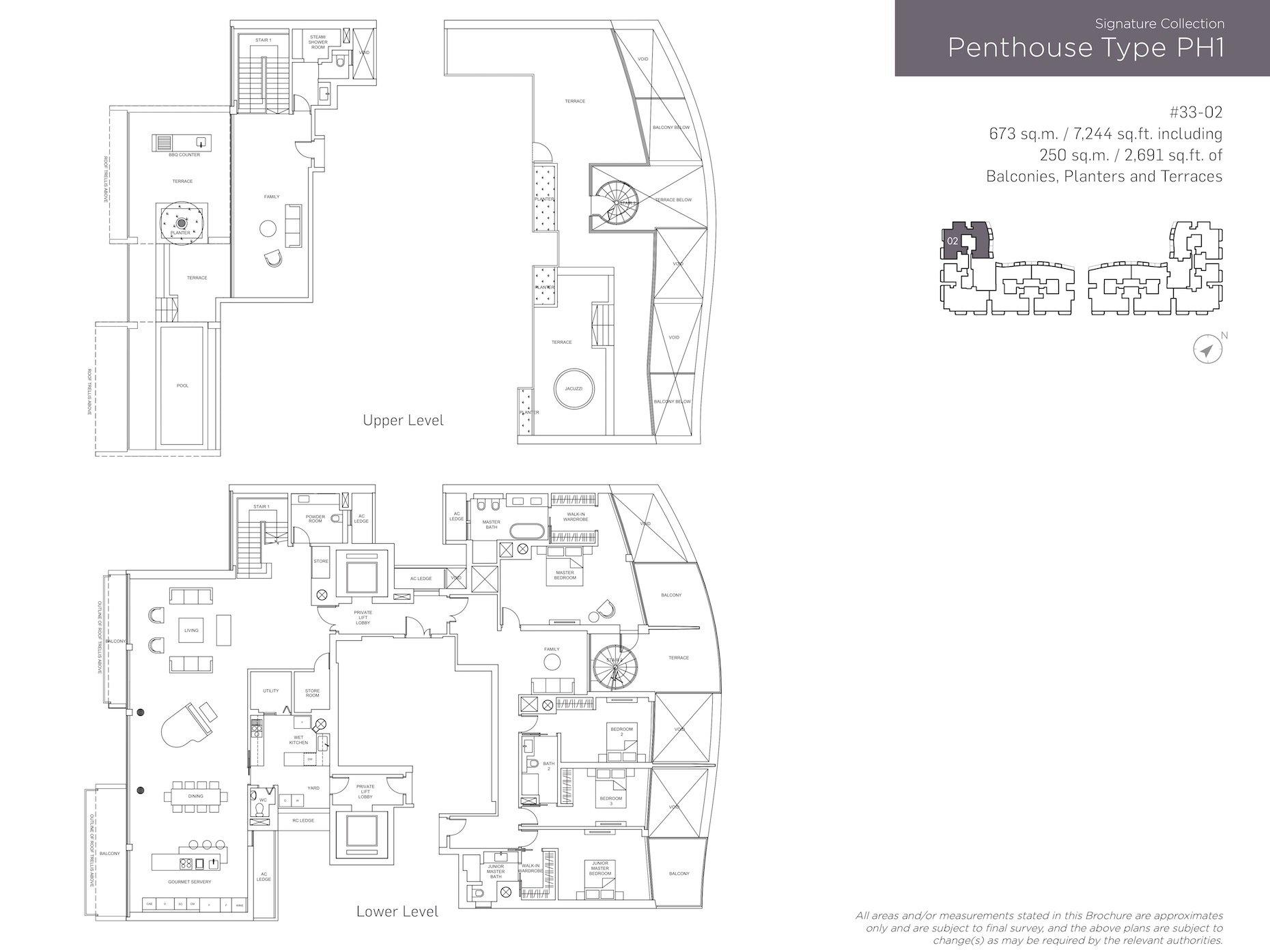 Marina One Residences 滨海盛景豪苑 floor plans PH1