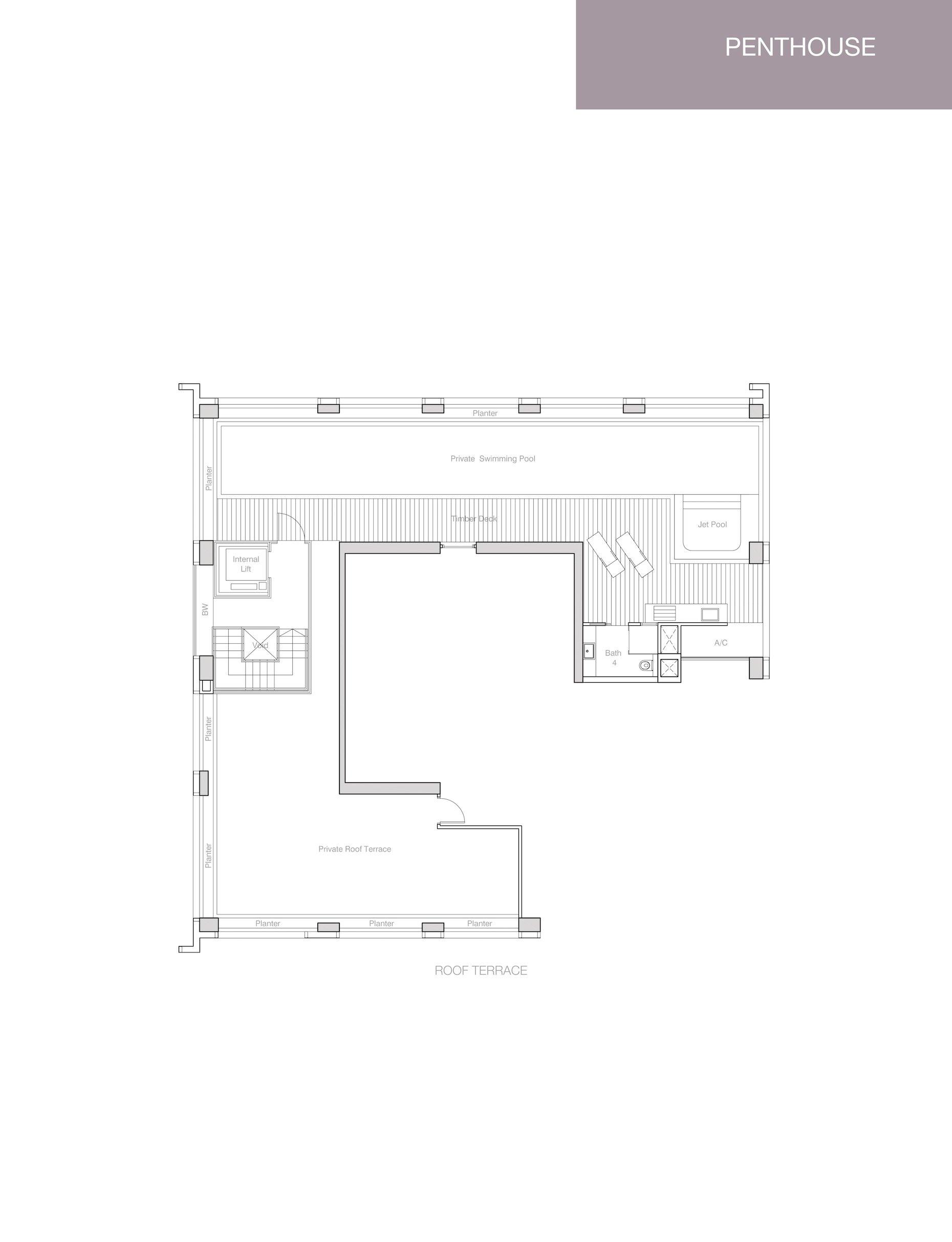 Nouvel 18 明筑公寓 floor plans PH1 36-01 roof