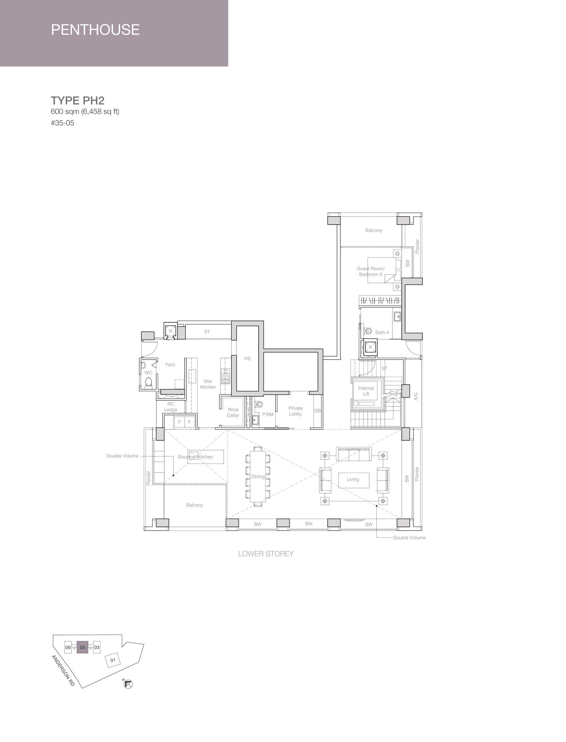 Nouvel 18 明筑公寓 floor plans PH2 35-05