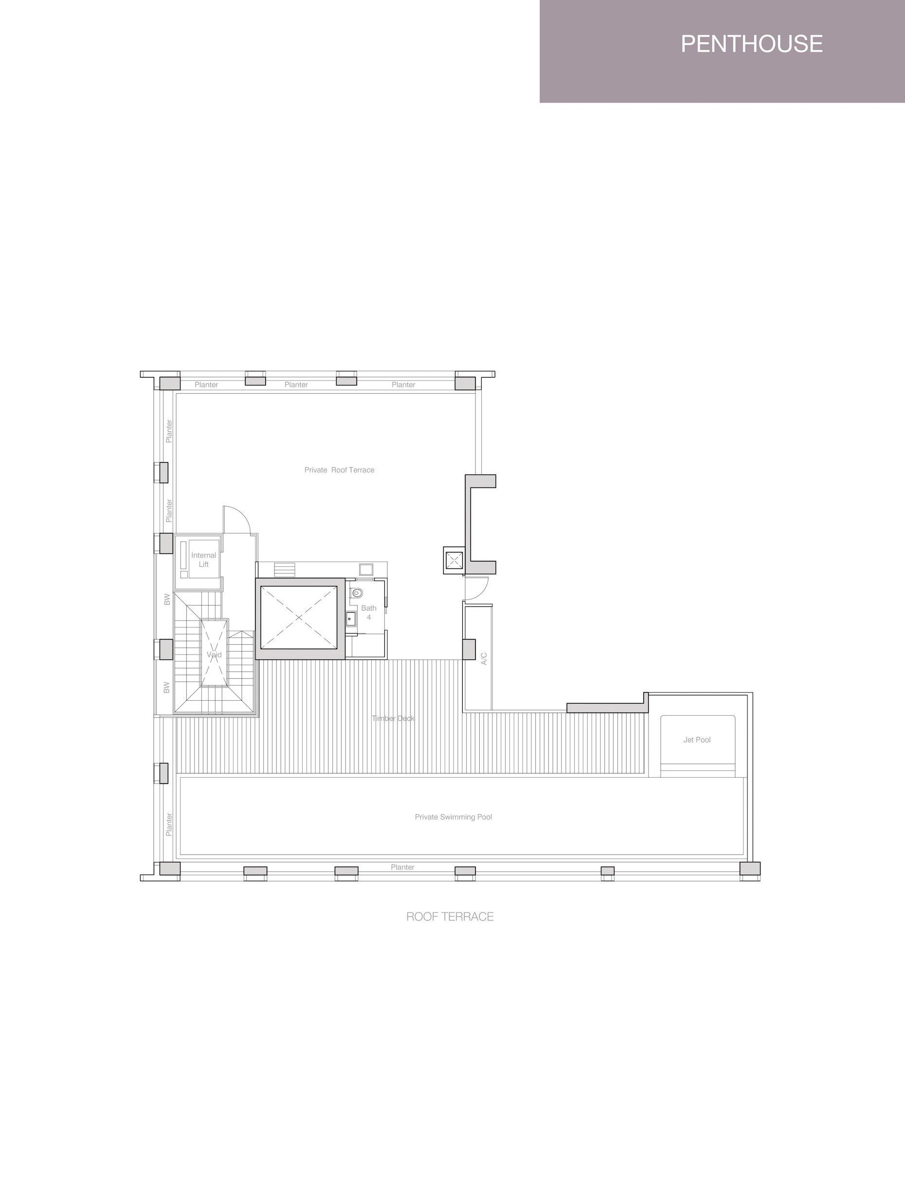 Nouvel 18 明筑公寓 floor plans PH3 36-06 upper