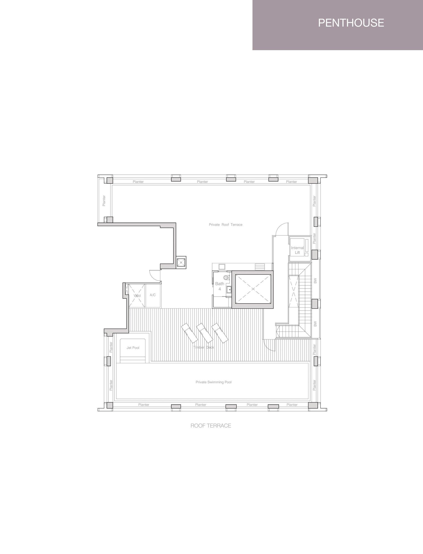 Nouvel 18 明筑公寓 floor plans PH4 36-03 upper